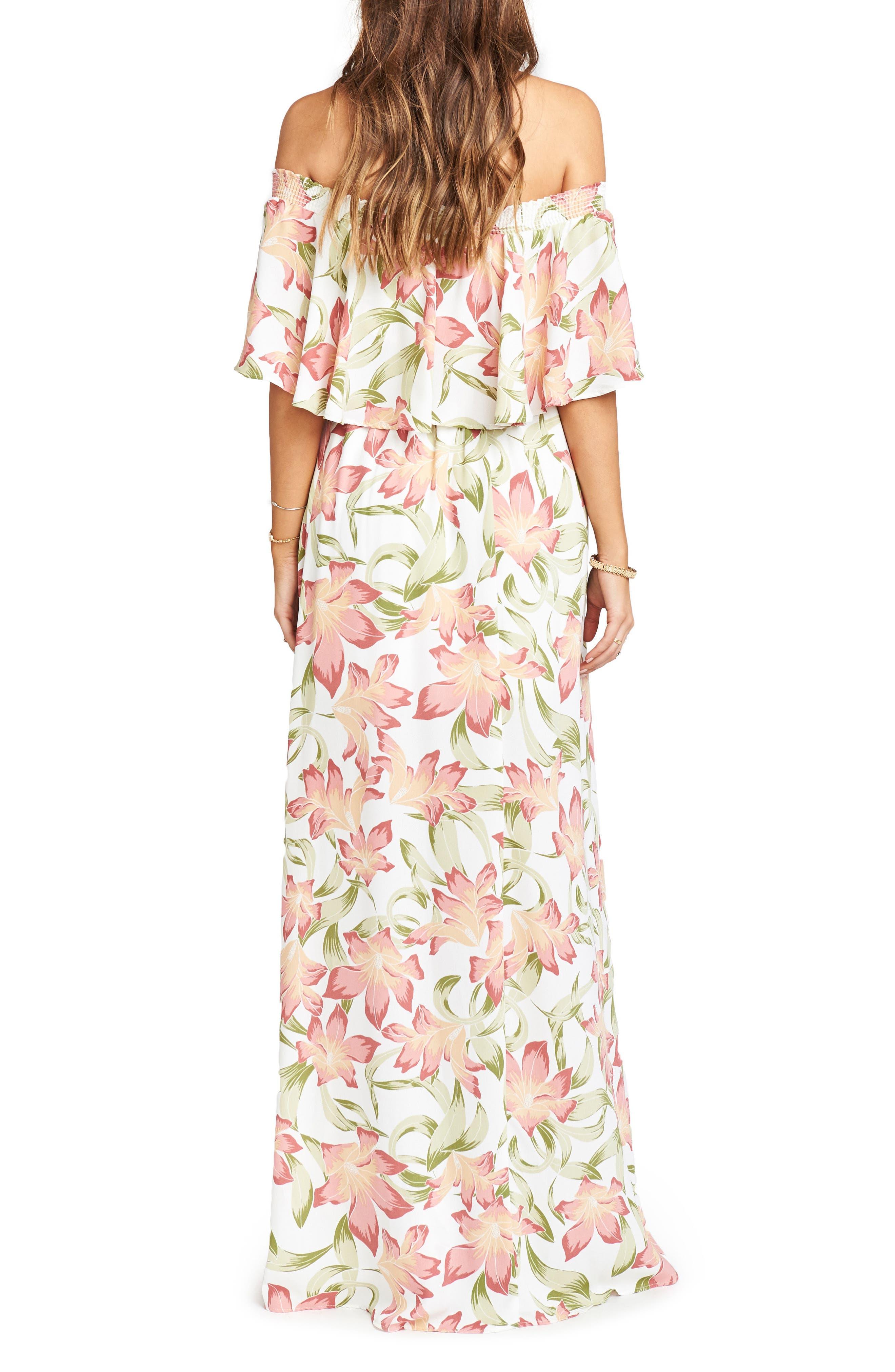 Hacienda Maxi Dress,                             Alternate thumbnail 2, color,                             Lily Lady Crepe