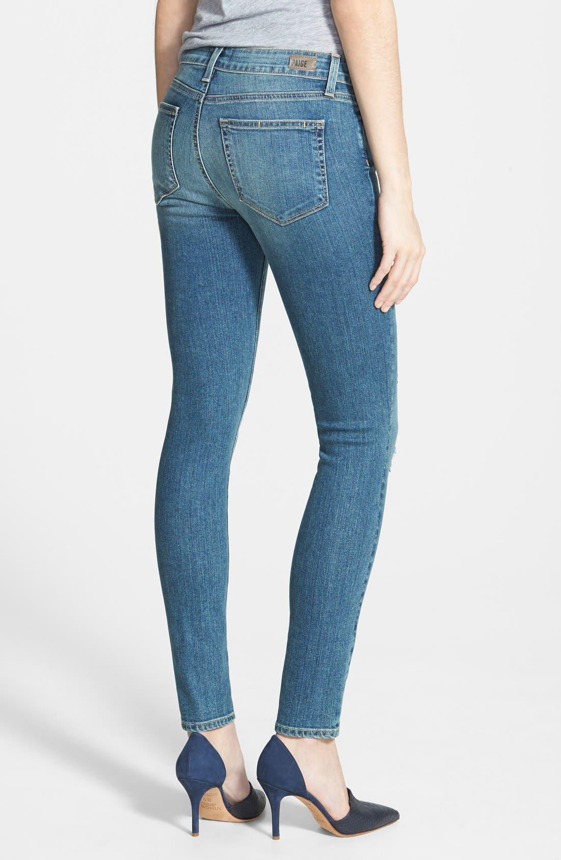 Alternate Image 2  - Paige Denim 'Verdugo' Ultra Skinny Jeans (Dazeley Destructed)