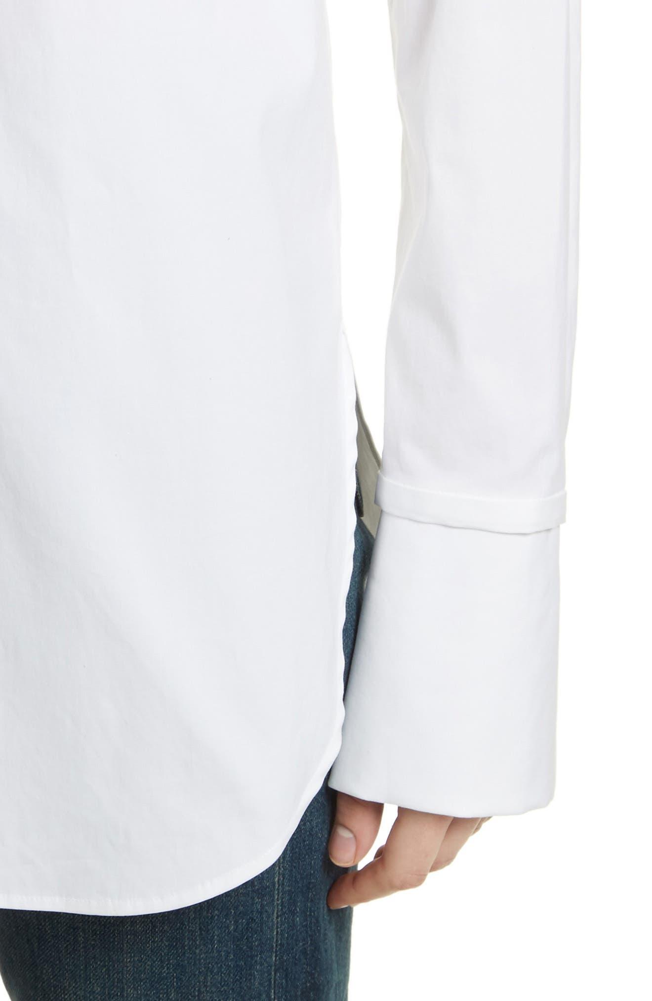 Cotton Poplin Boy Tunic,                             Alternate thumbnail 4, color,                             White