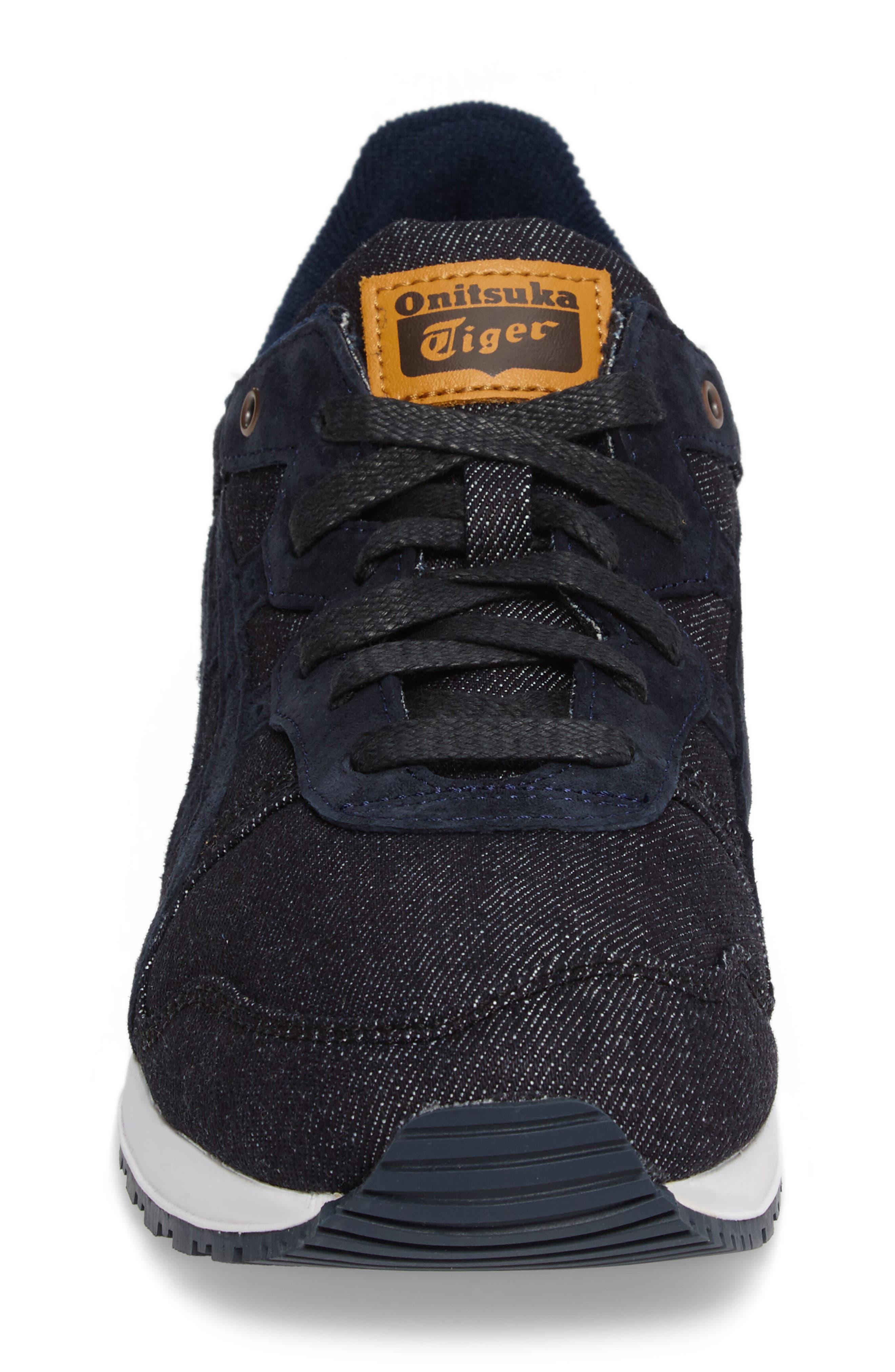 Onitsuka Tiger Ally Sneaker,                             Alternate thumbnail 4, color,                             Indigo Blue/ Indigo Blue