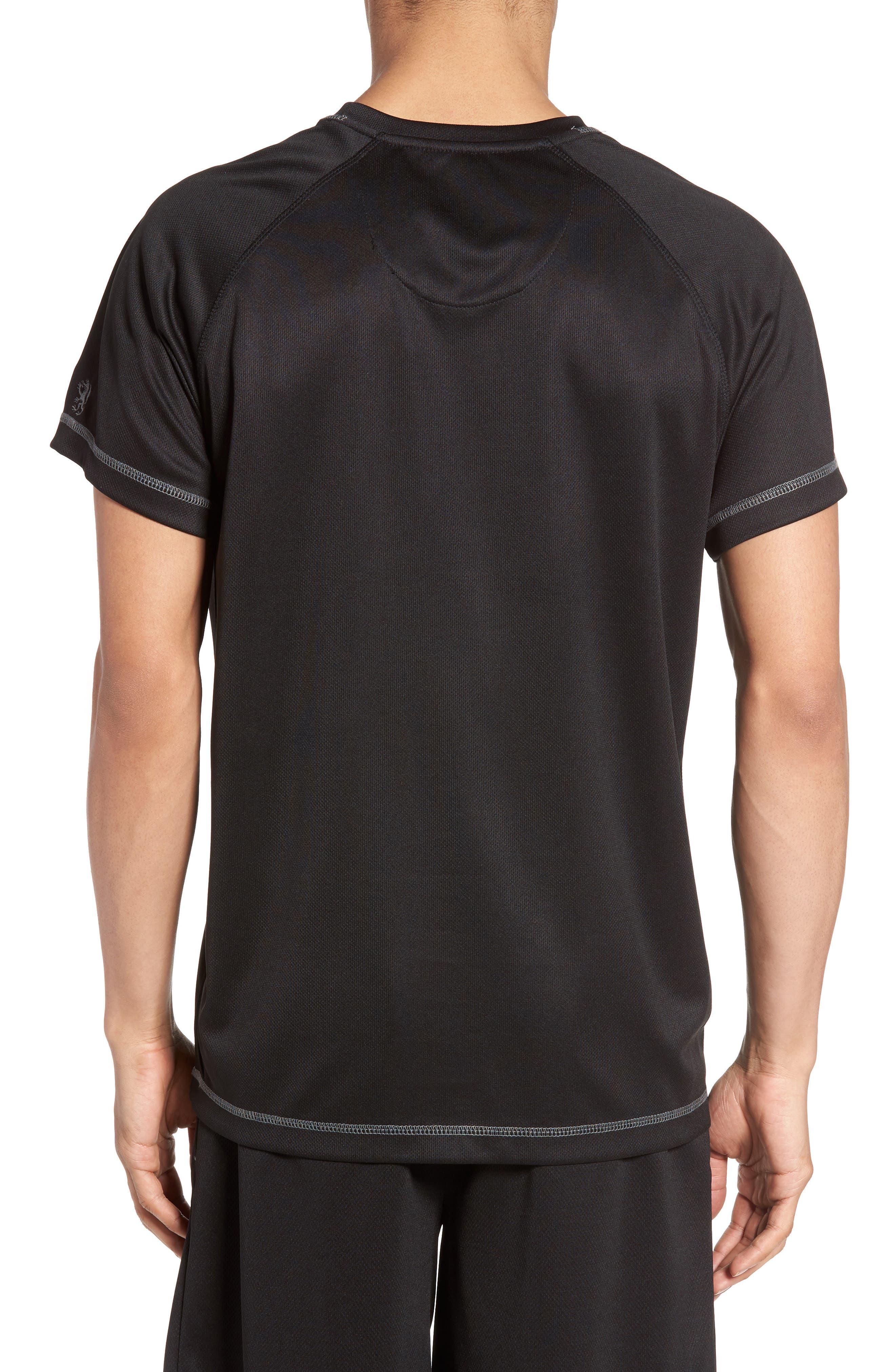 Work Out Crewneck T-Shirt,                             Alternate thumbnail 2, color,                             Black