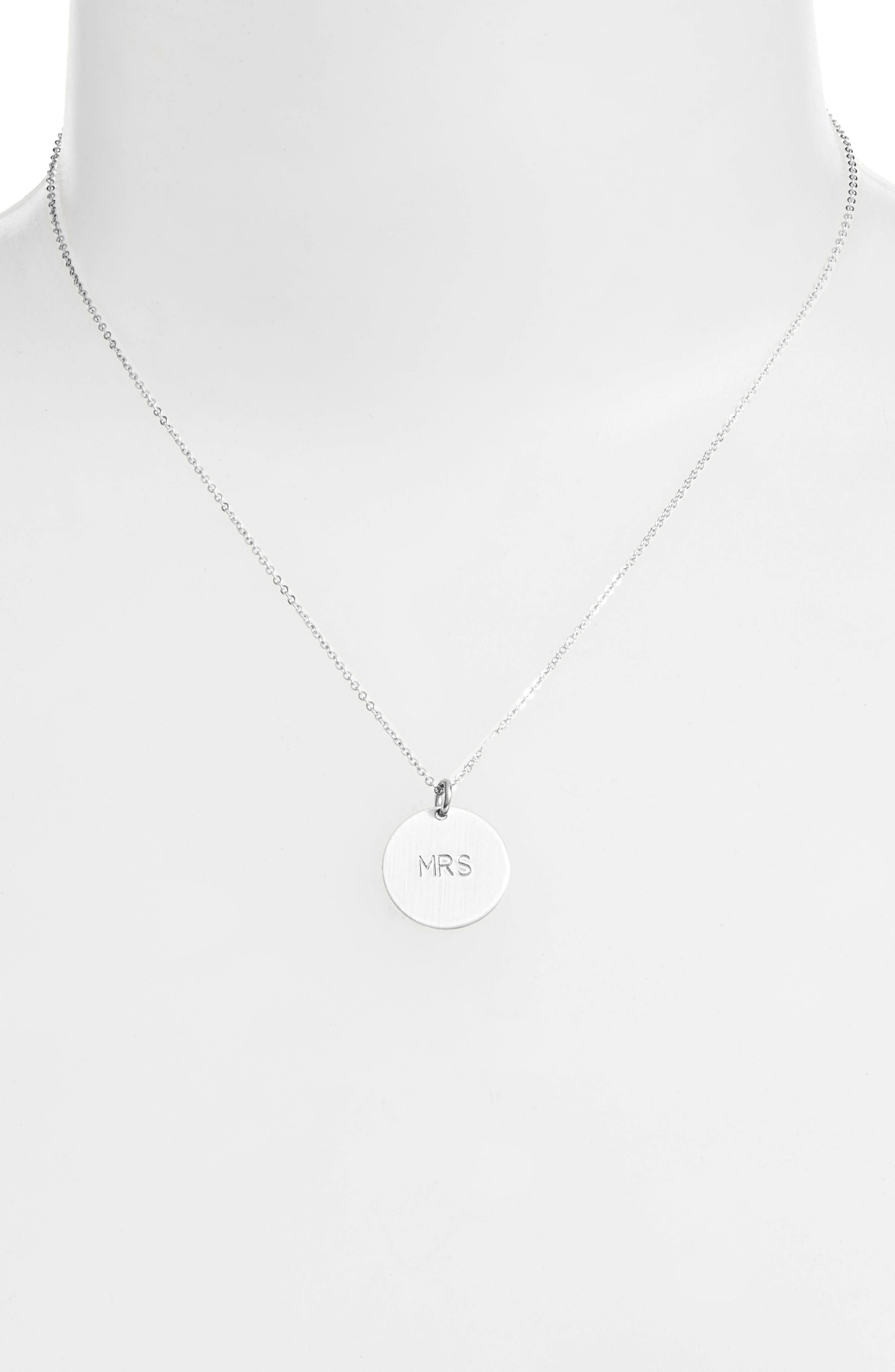 Alternate Image 2  - Nashelle Newlywed Pendant Necklace
