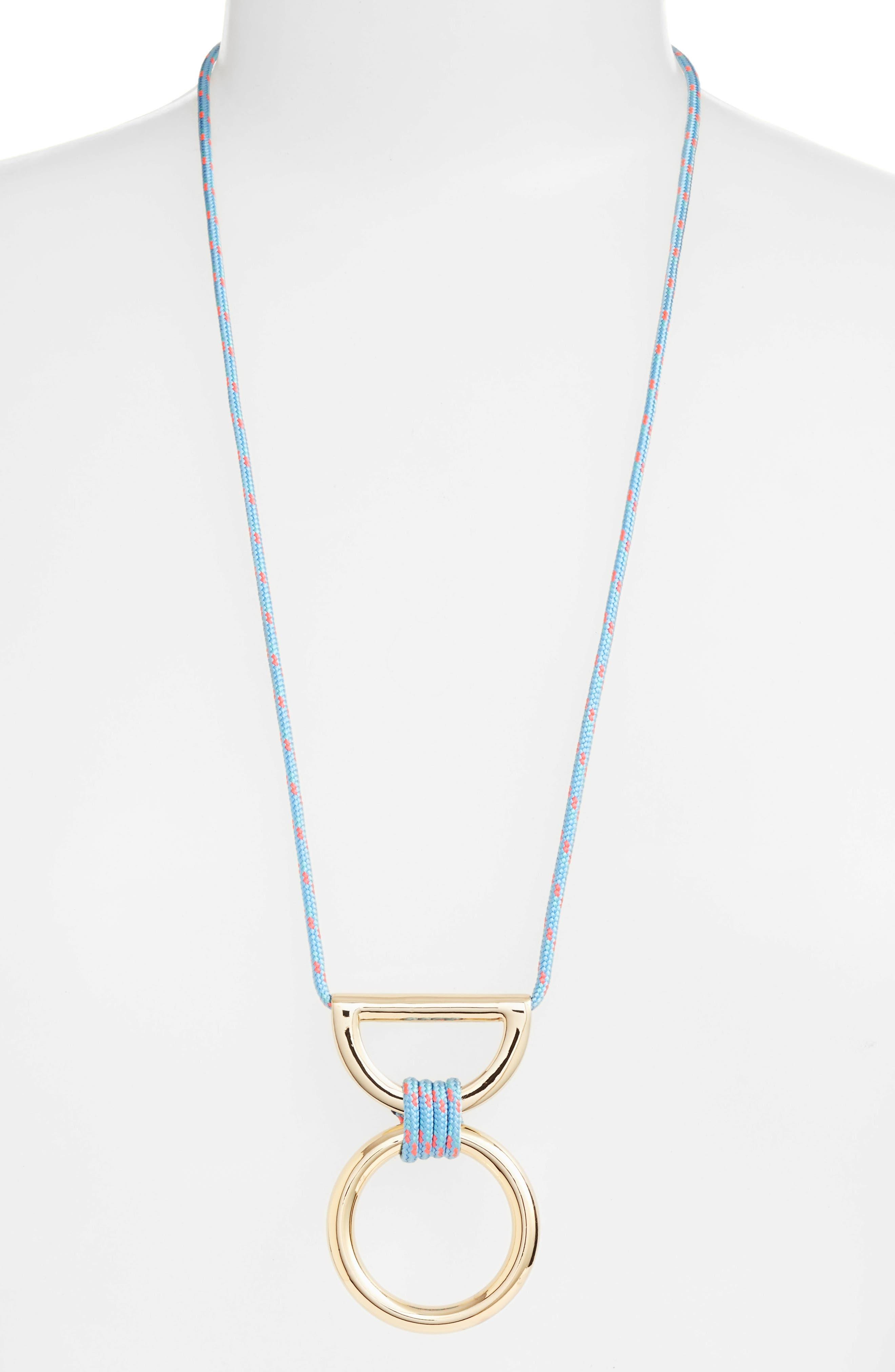 Main Image - Rebecca Minkoff Climbing Rope Pendant Necklace