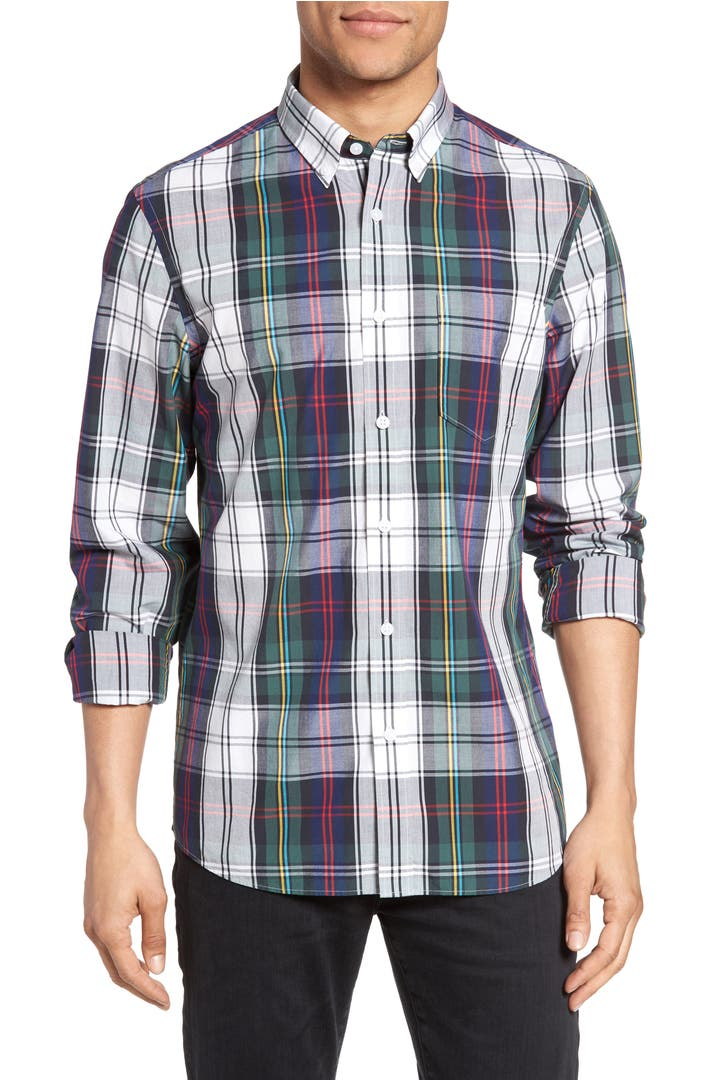 nordstrom men 39 s shop slim fit plaid sport shirt nordstrom