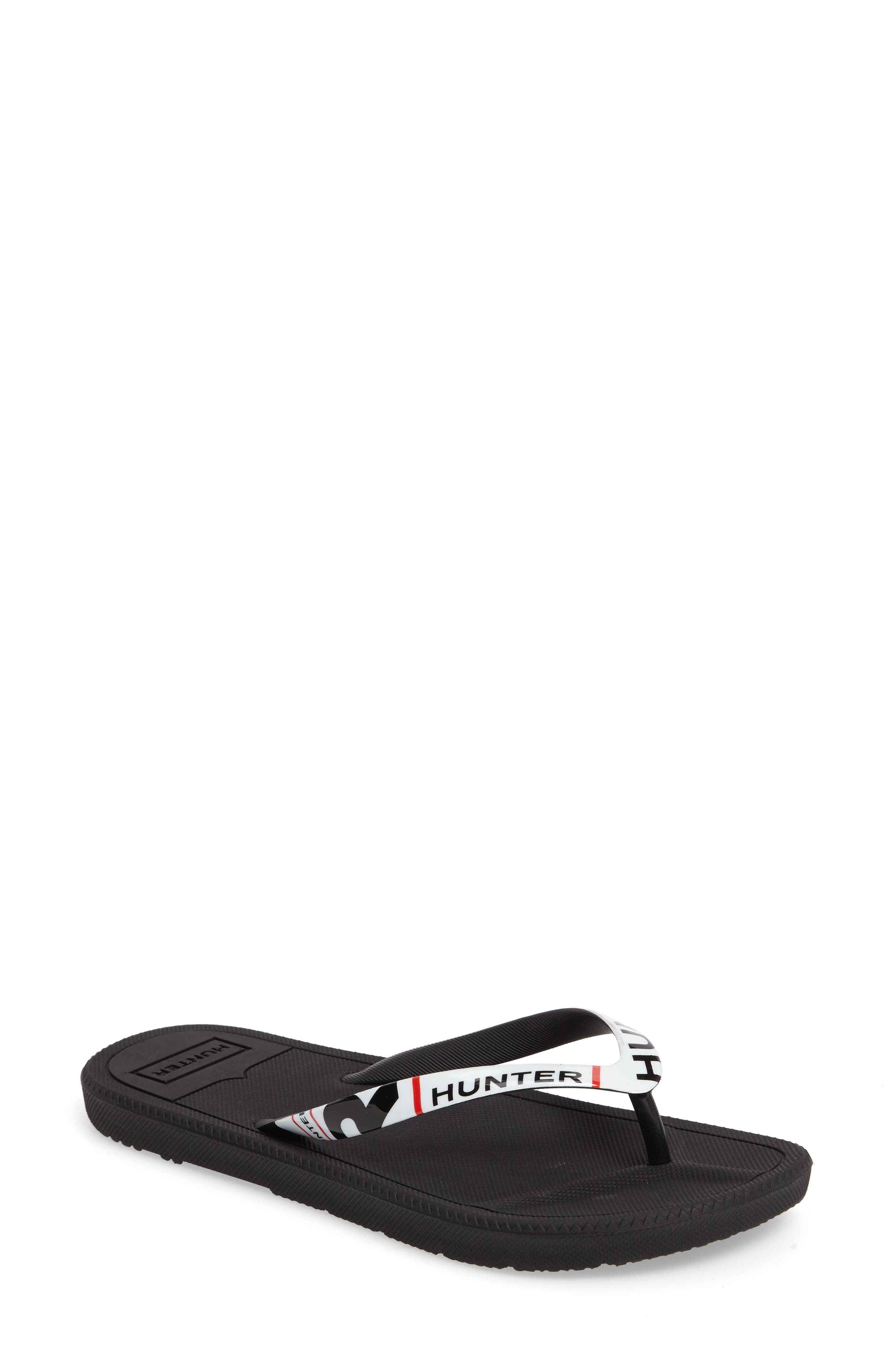 Hunter Original Exploded Logo Flip Flop (Women)