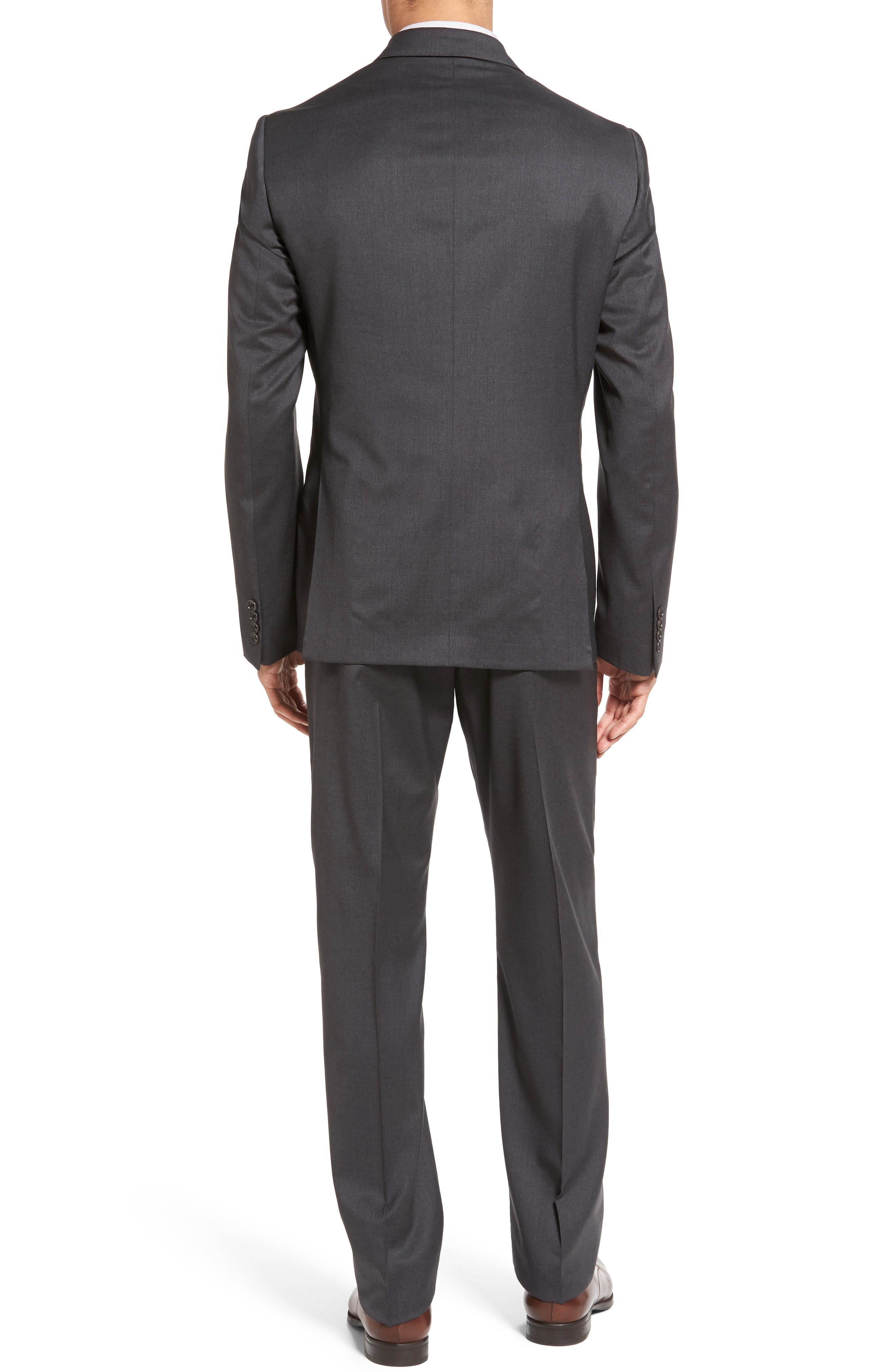 Classic Fit Solid Wool Suit,                             Alternate thumbnail 2, color,                             Charcoal