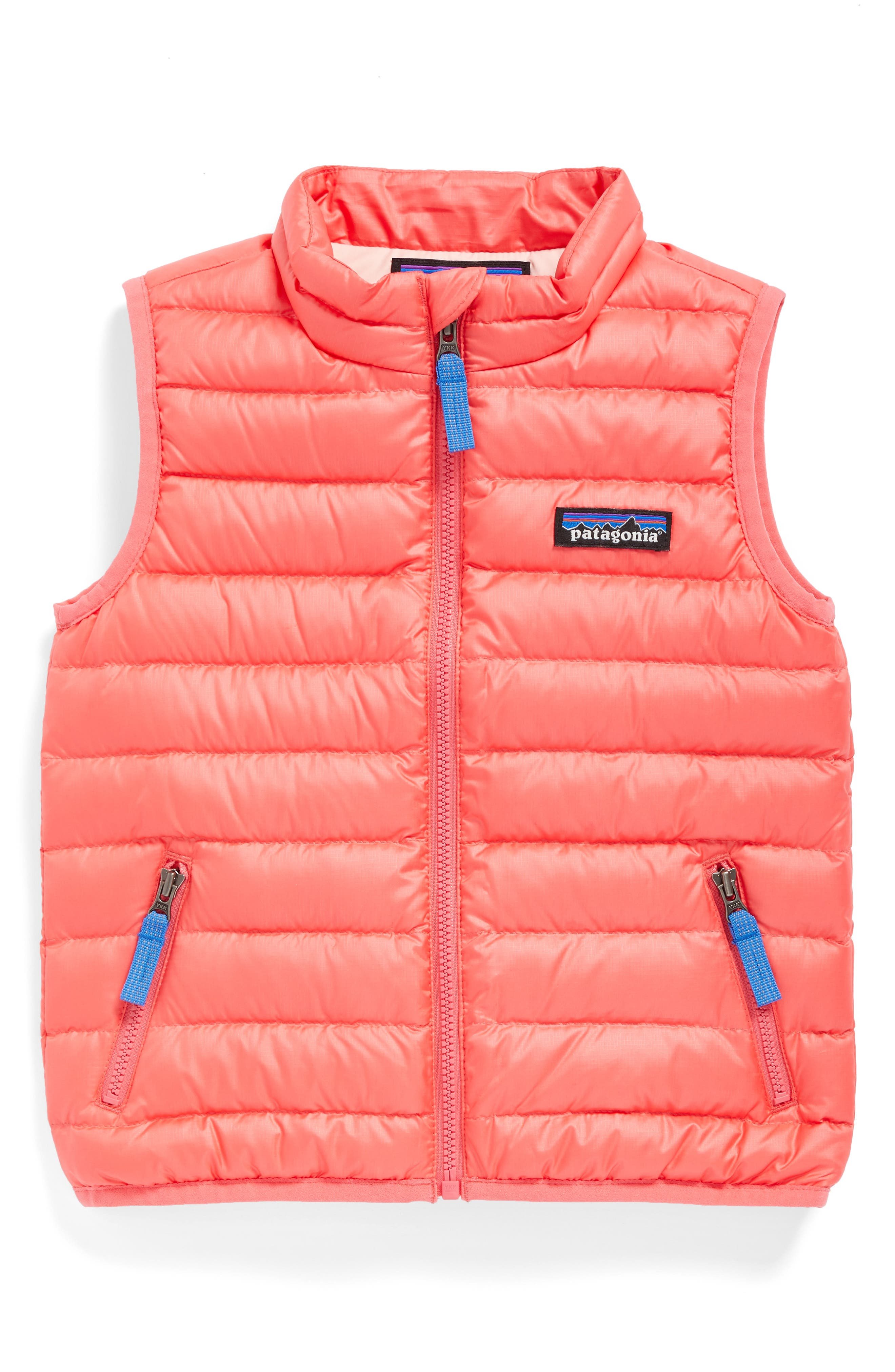 Water Repellent Down Sweater Vest,                         Main,                         color, Indy Pink