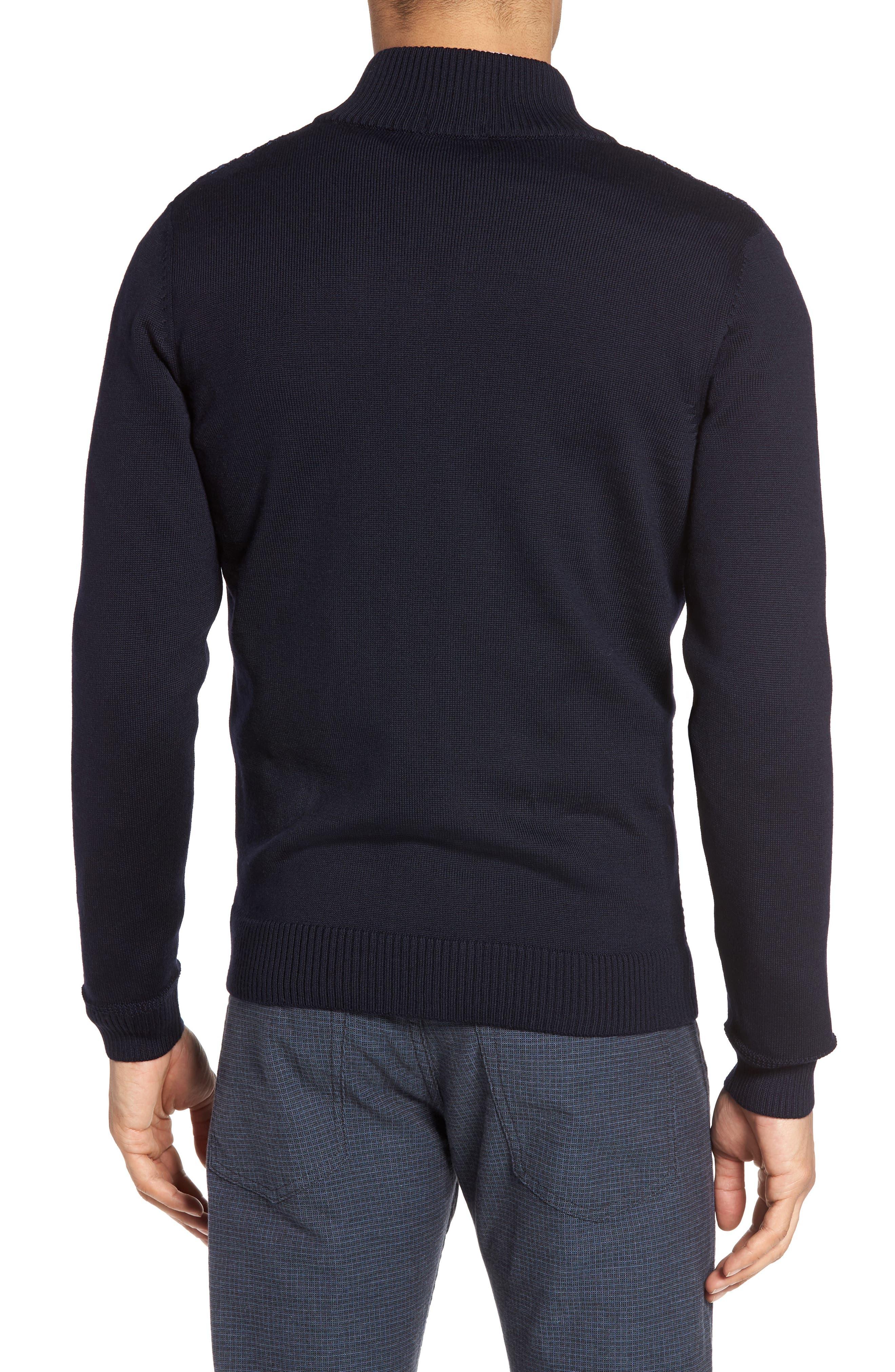 Bacco Full Zip Wool Sweater Jacket,                             Alternate thumbnail 2, color,                             Navy