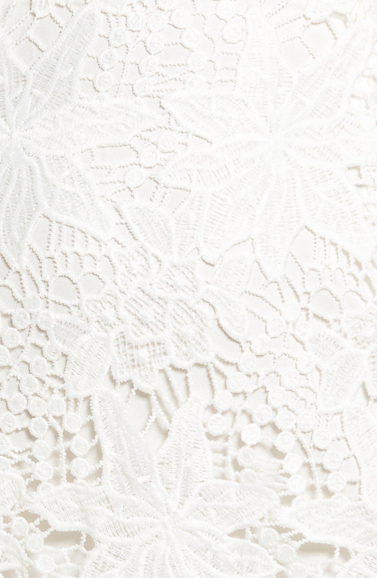 Daniella Lace Body-Con Dress,                             Alternate thumbnail 6, color,                             White