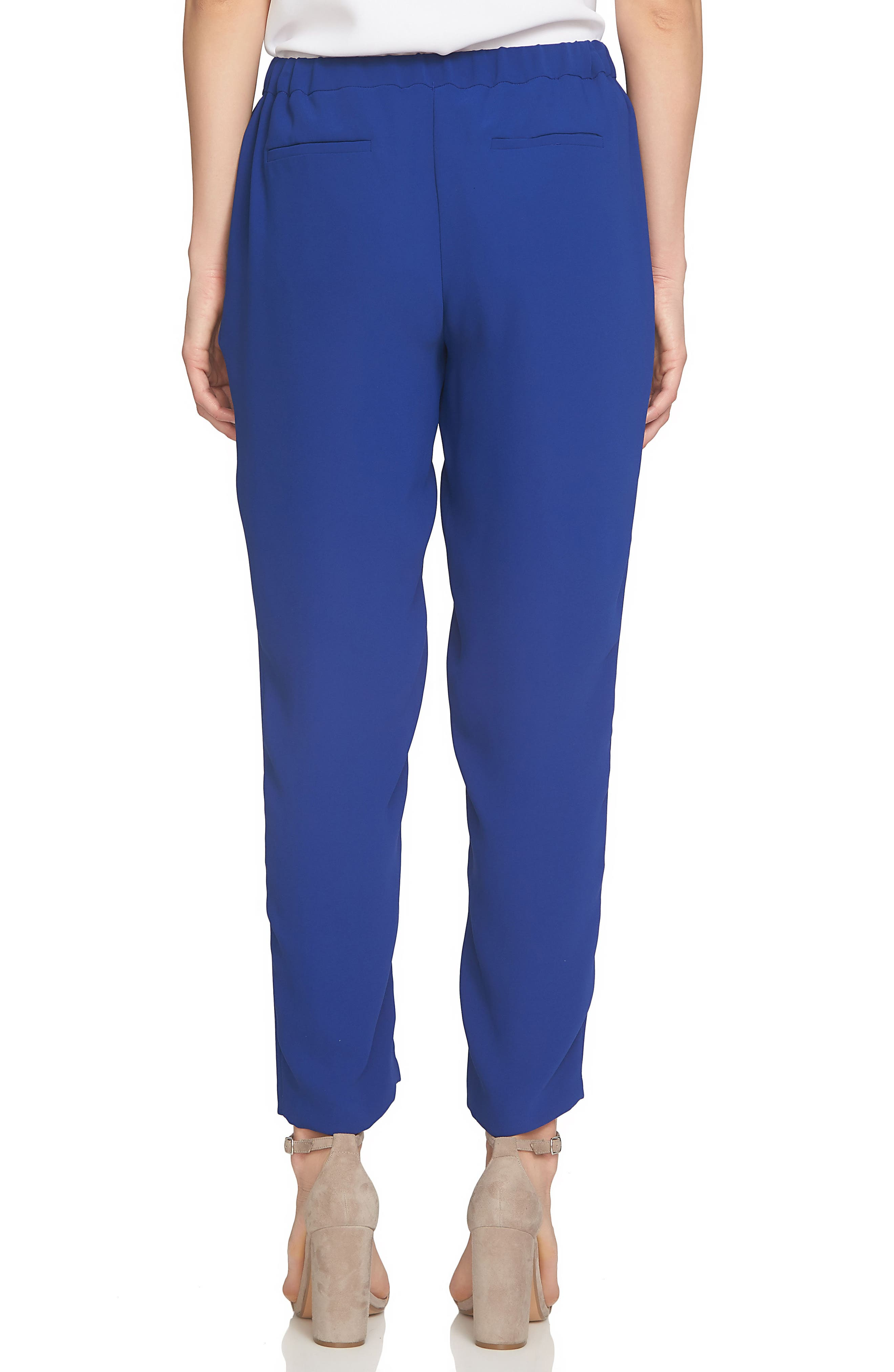 Crepe Ankle Pants,                             Alternate thumbnail 2, color,                             Midnight Rush