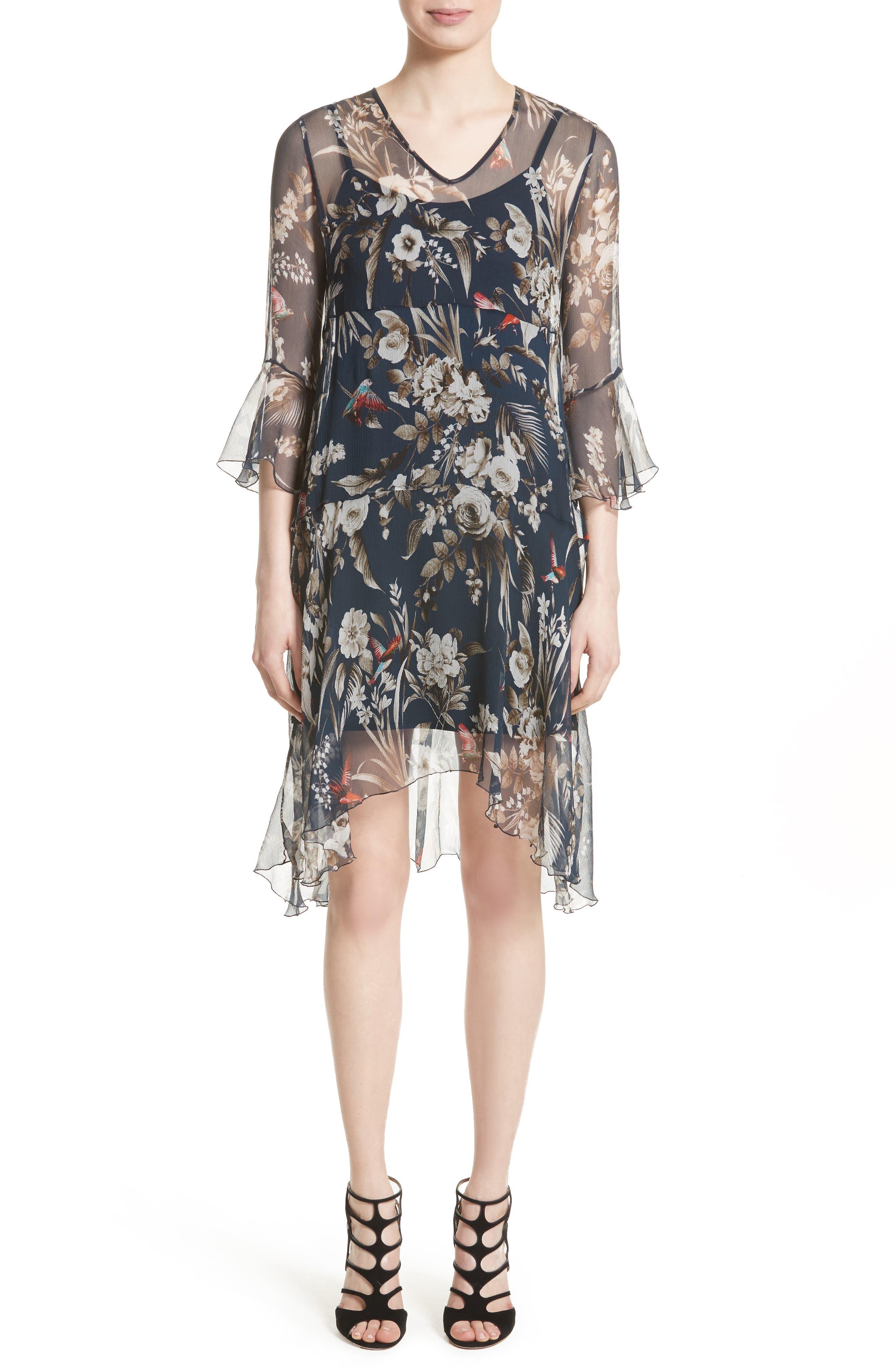 Fuzzi Silk Chiffon Dress