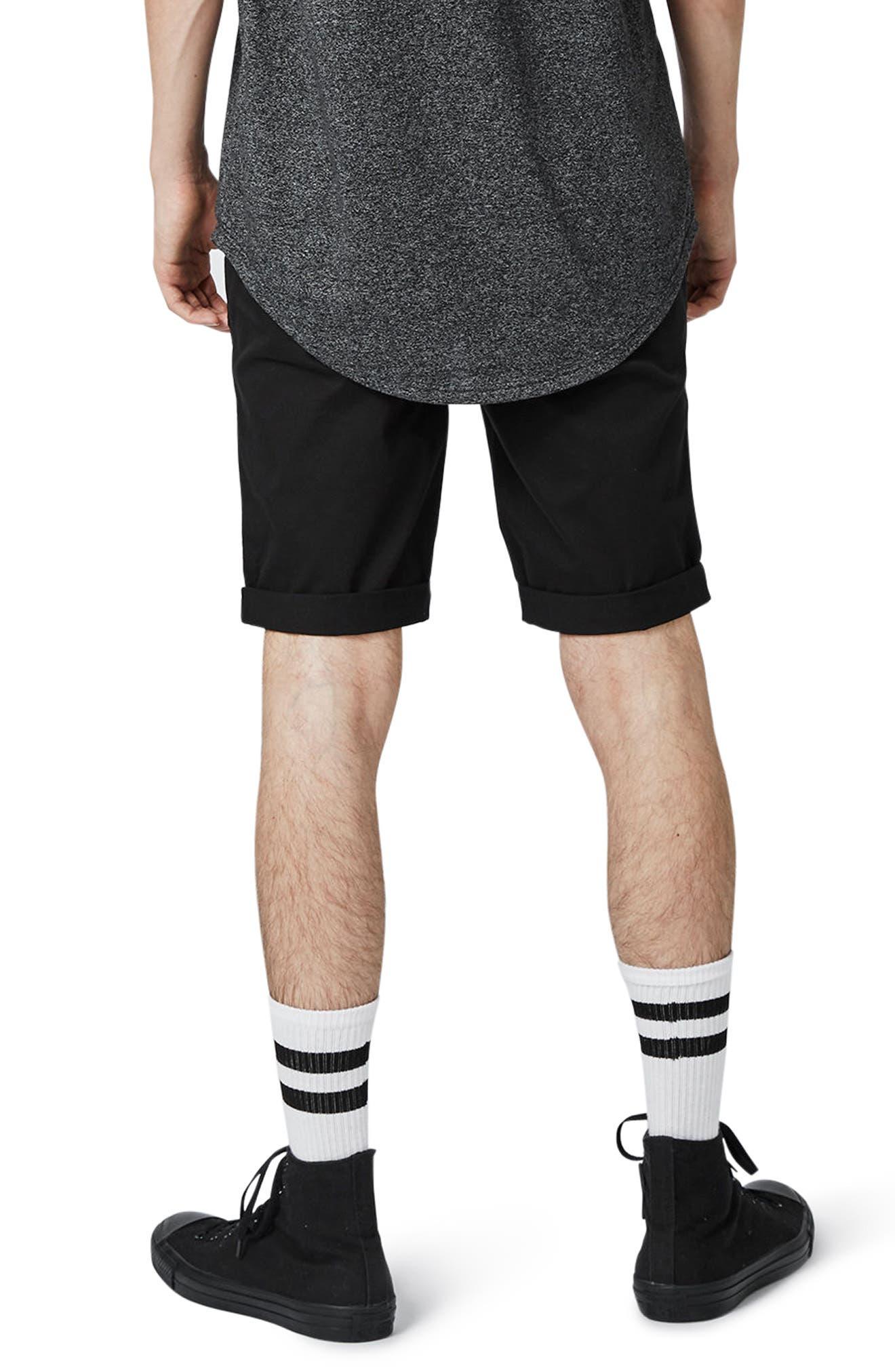 Alternate Image 3  - Topman Stretch Skinny Fit Chino Shorts