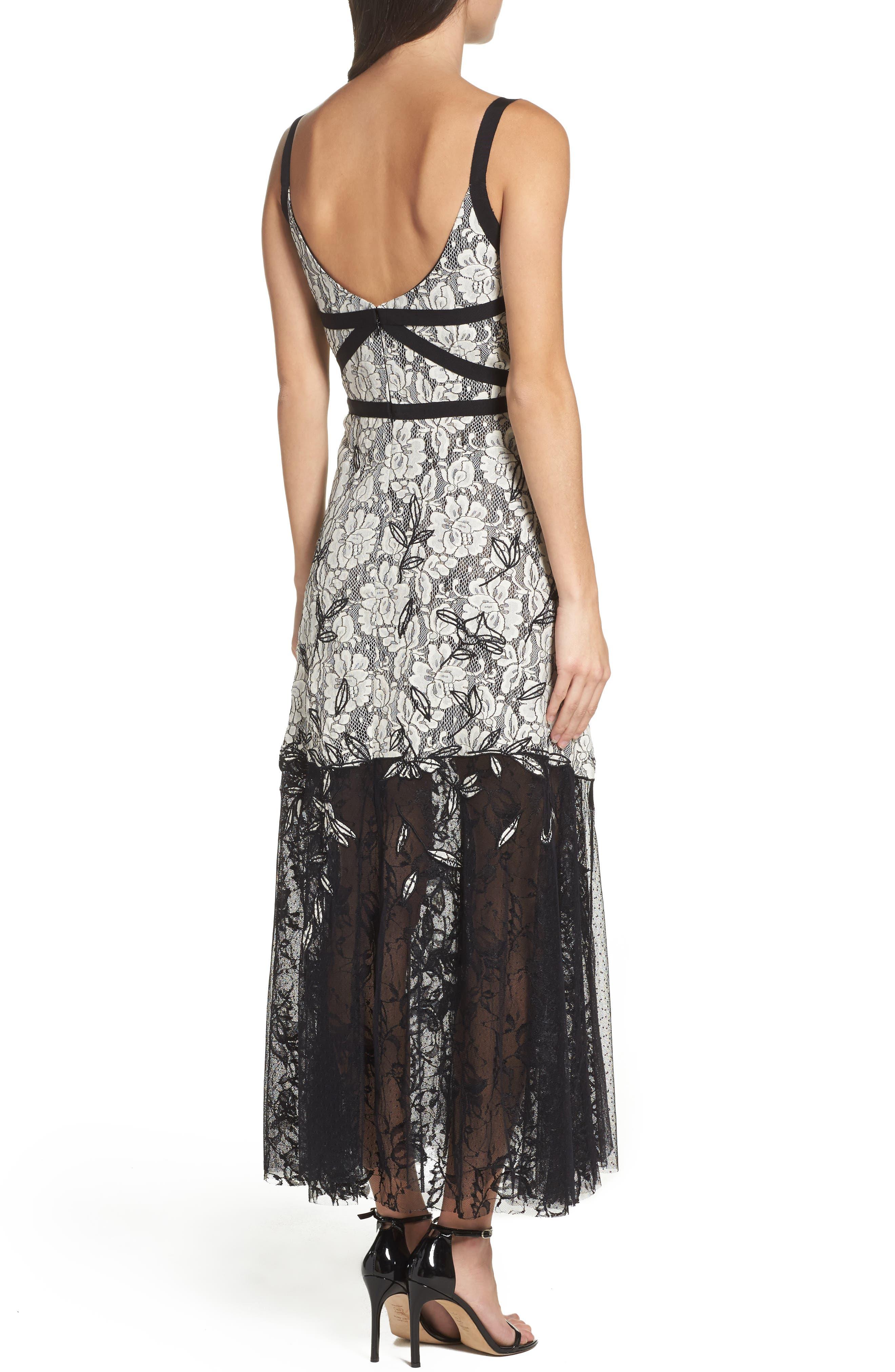 Alternate Image 2  - Sachin & Babi Noir Rose Lace Gown
