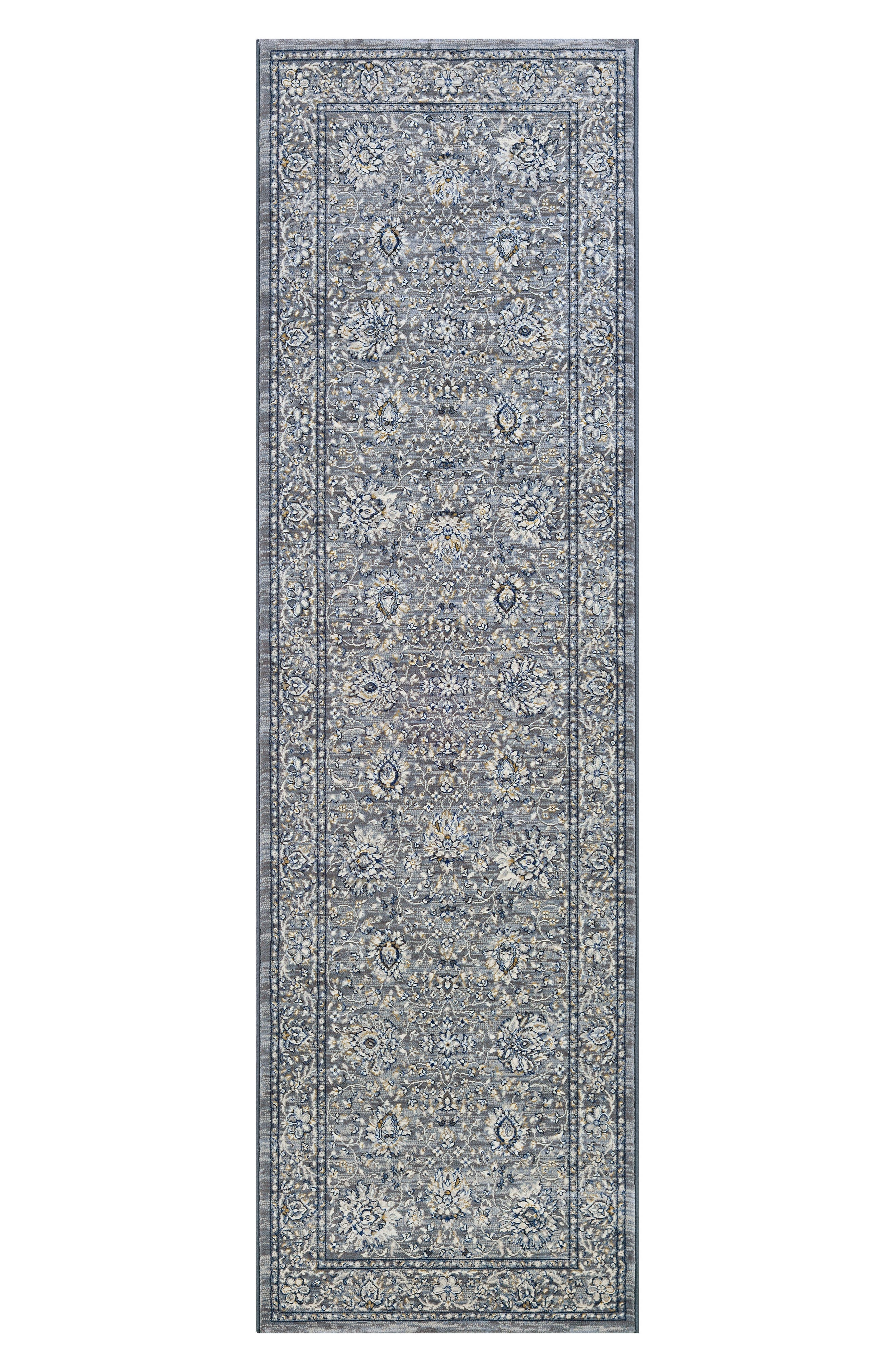 Persian Isfahn Indoor/Outdoor Rug,                             Alternate thumbnail 2, color,                             Slate