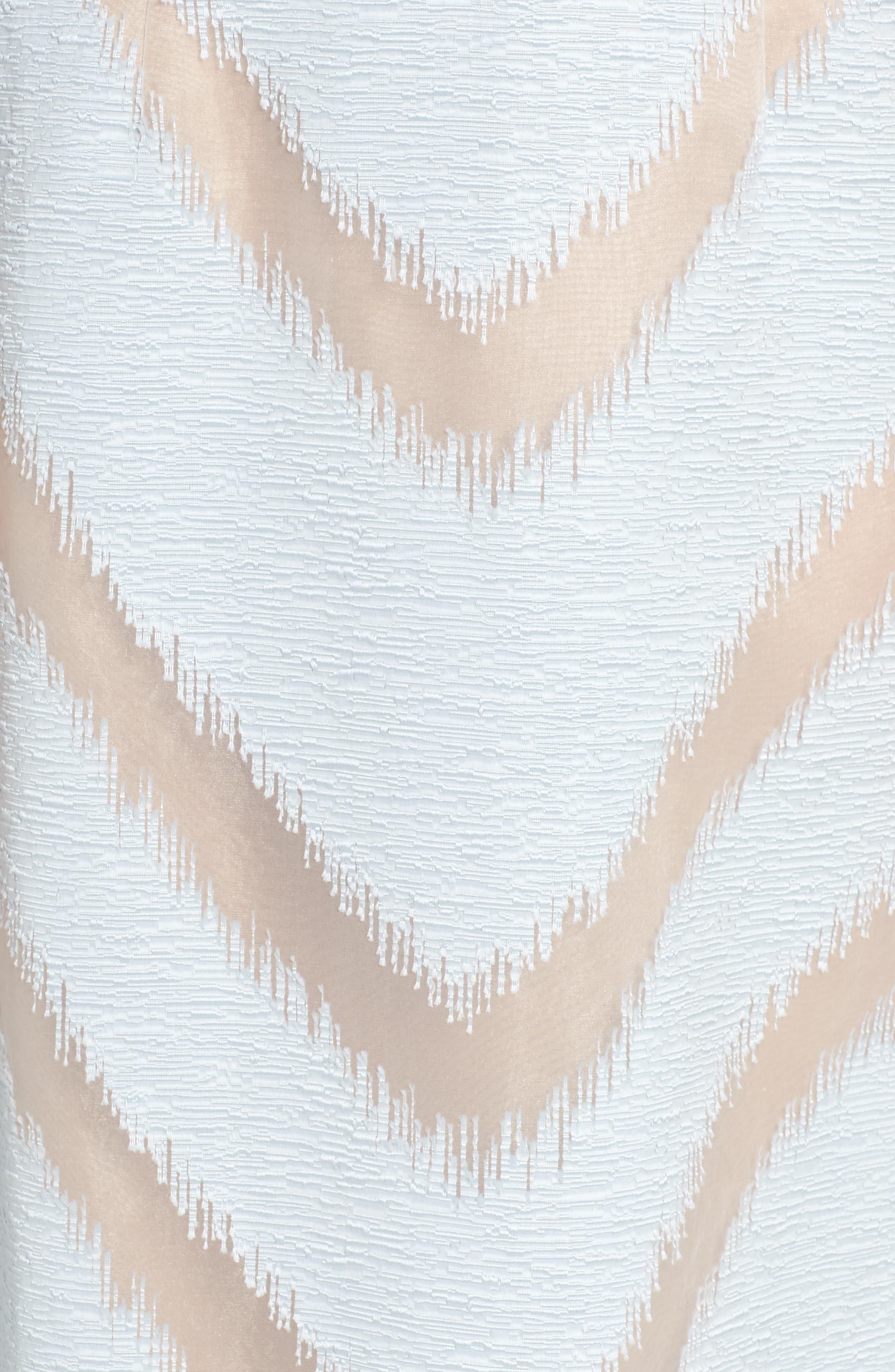 Jacquard Midi Dress,                             Alternate thumbnail 5, color,                             Ice