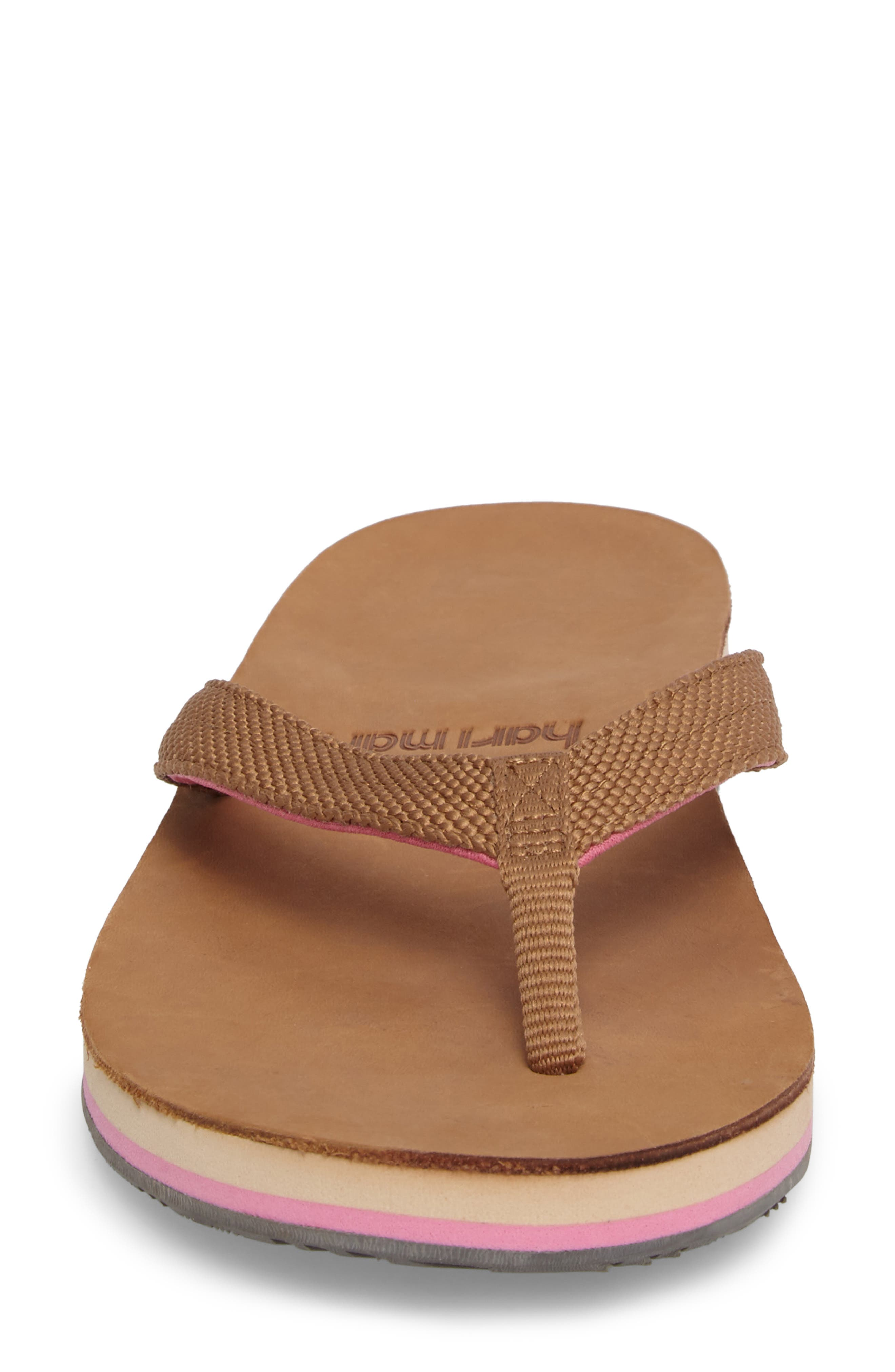 Scouts Flip Flop,                             Alternate thumbnail 4, color,                             Tan/ Shell Pink