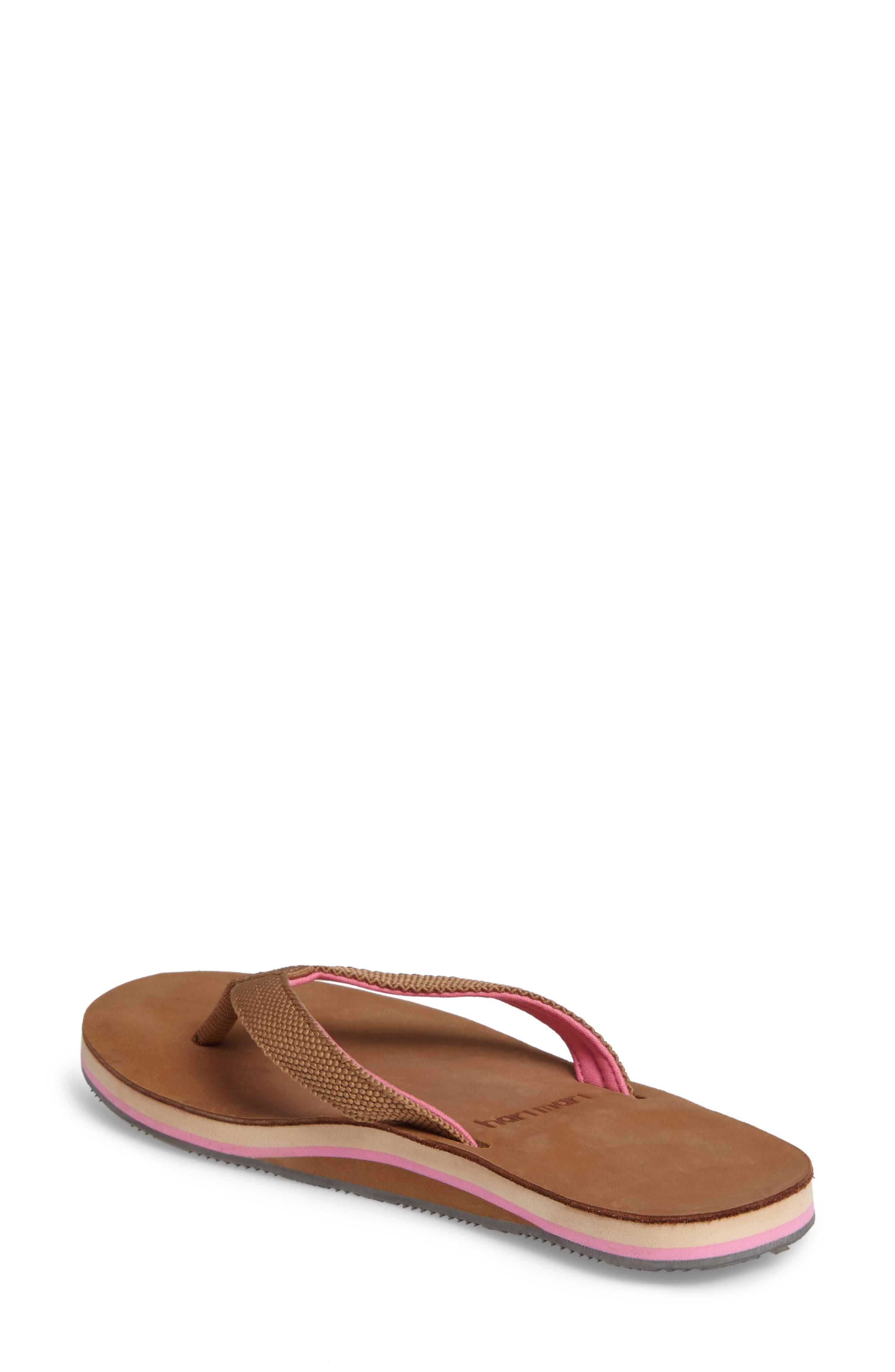 Scouts Flip Flop,                             Alternate thumbnail 2, color,                             Tan/ Shell Pink