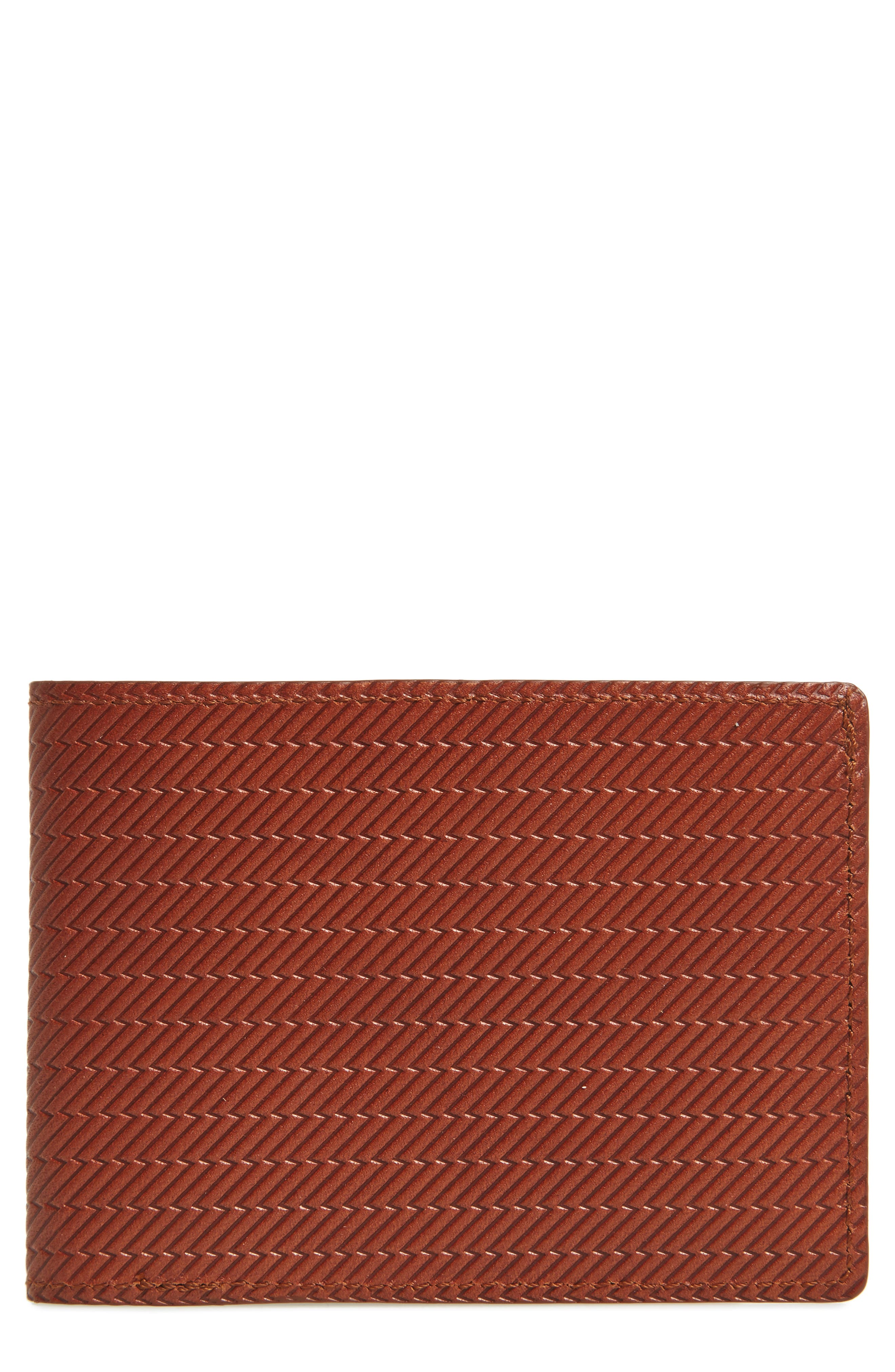 Leather Wallet,                         Main,                         color, Bourbon