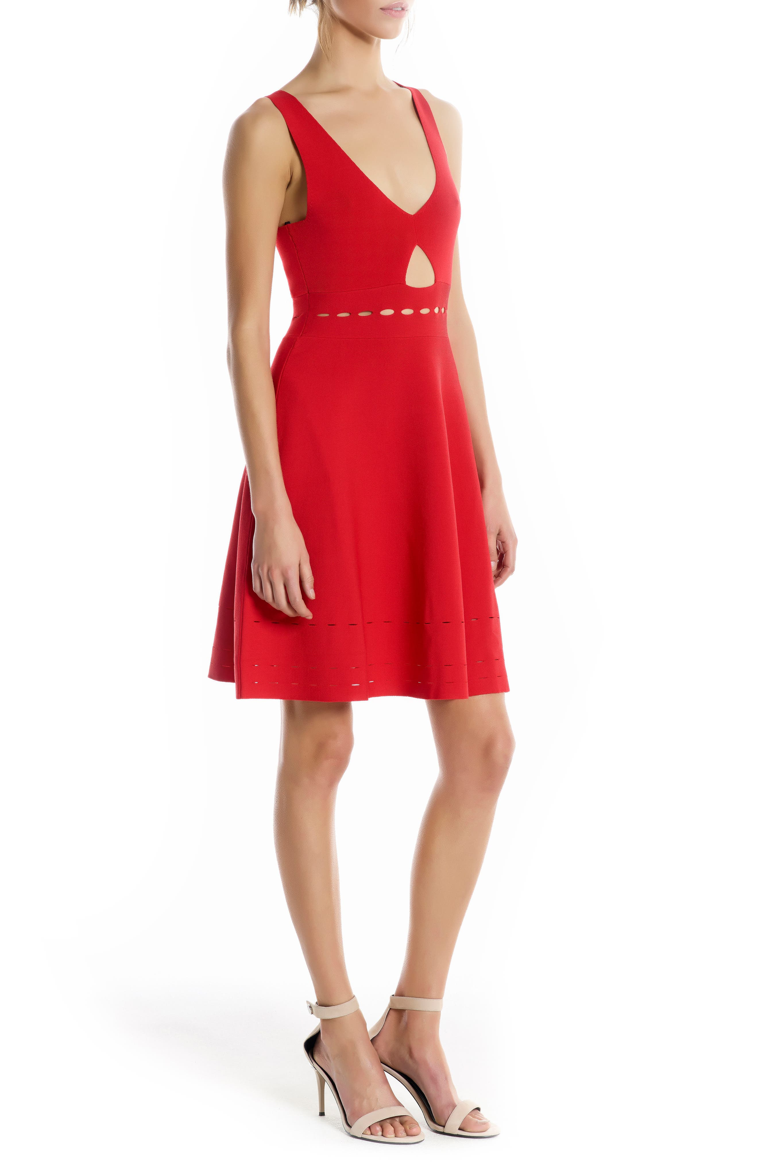 Alternate Image 3  - KENDALL + KYLIE Pointelle Cutout Dress