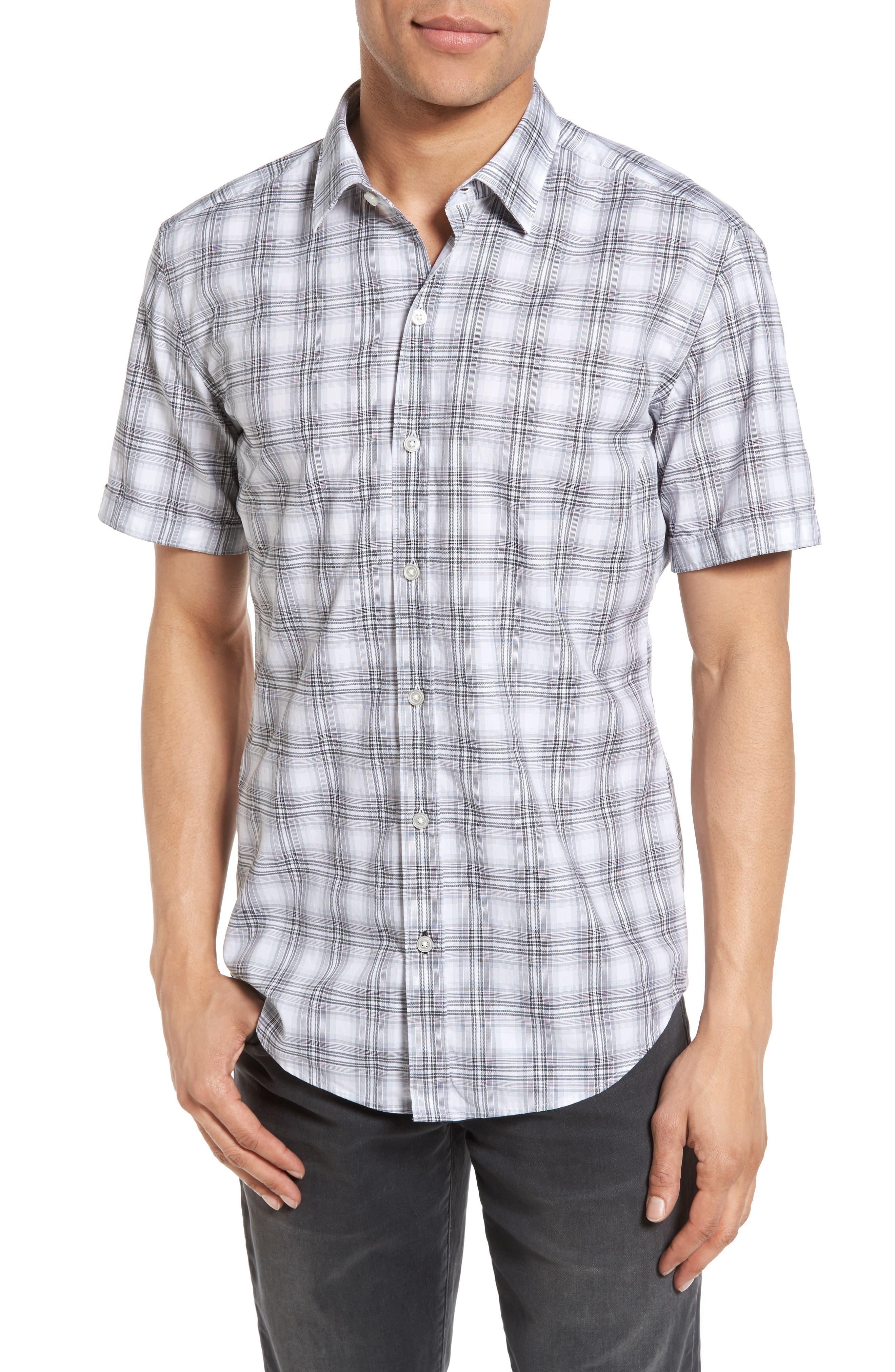 BOSS Robbie Sharp Fit Large Check Sport Shirt