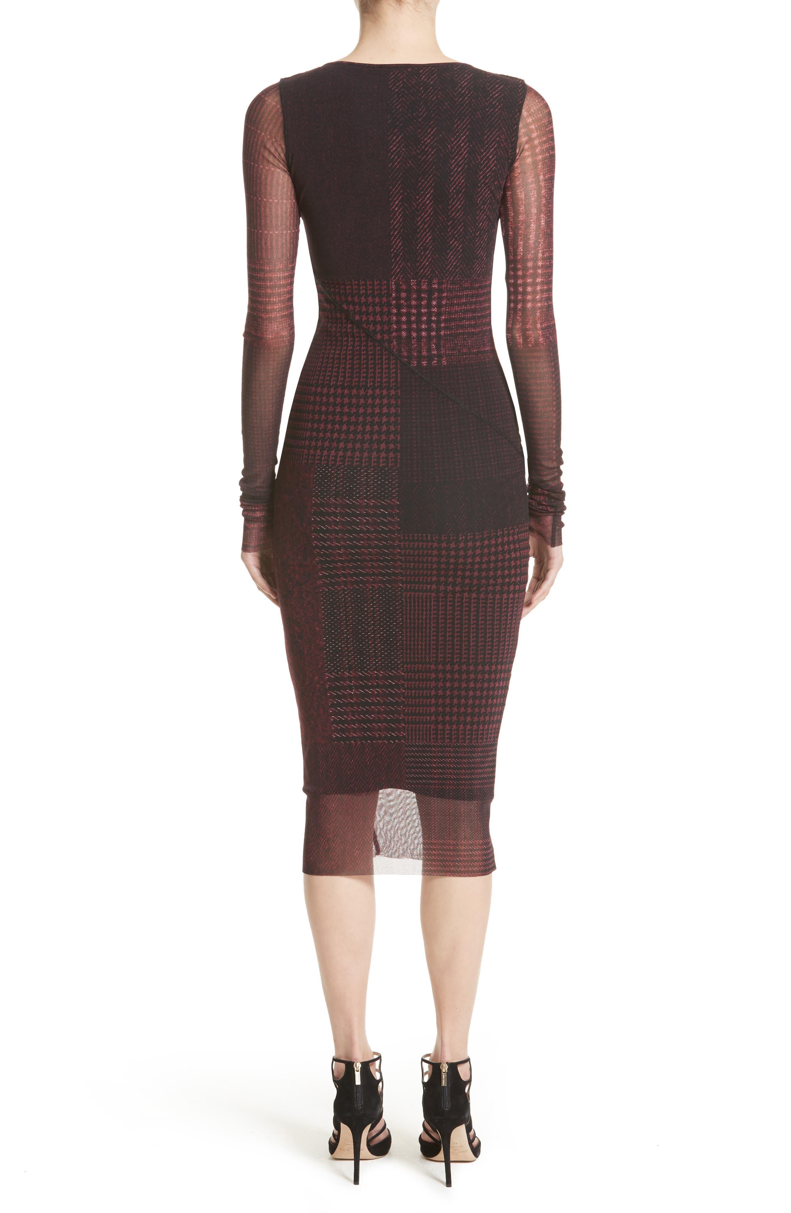 Alternate Image 2  - Fuzzi Long Sleeve Tulle Midi Dress