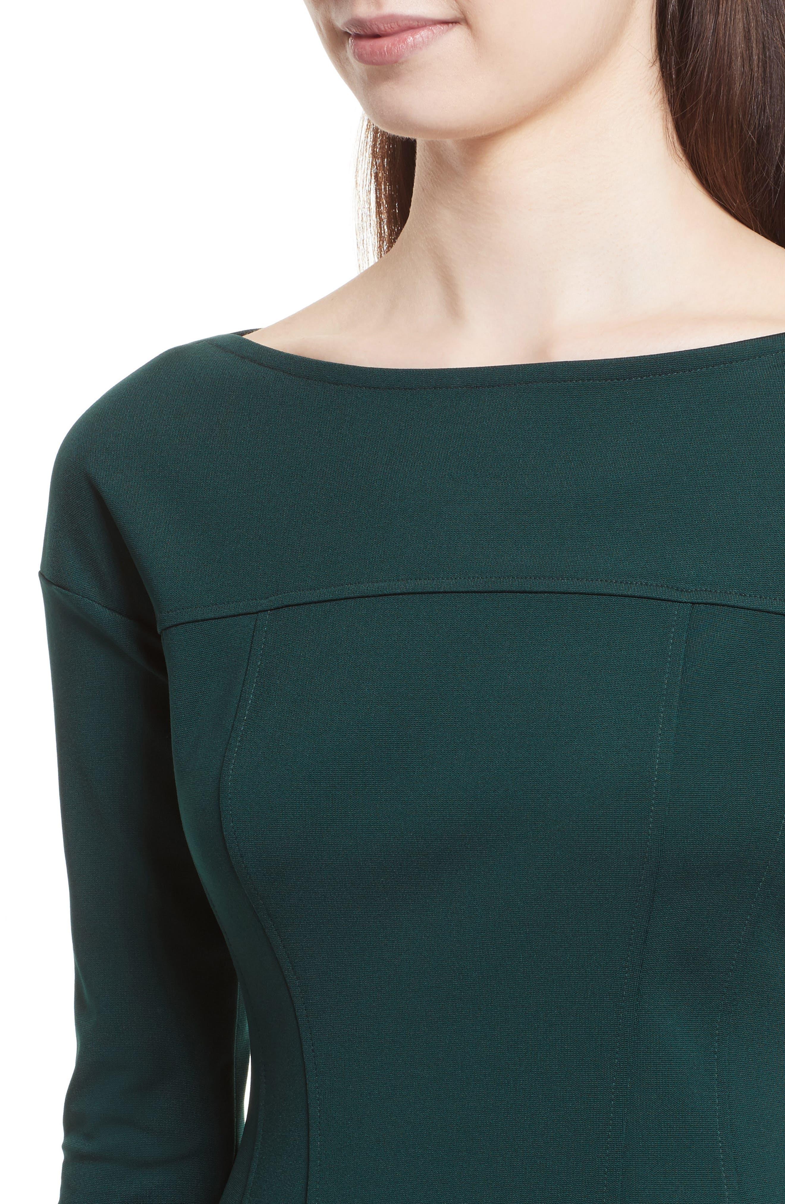 Alternate Image 4  - Theory Valentina Scuba Knit A-Line Dress
