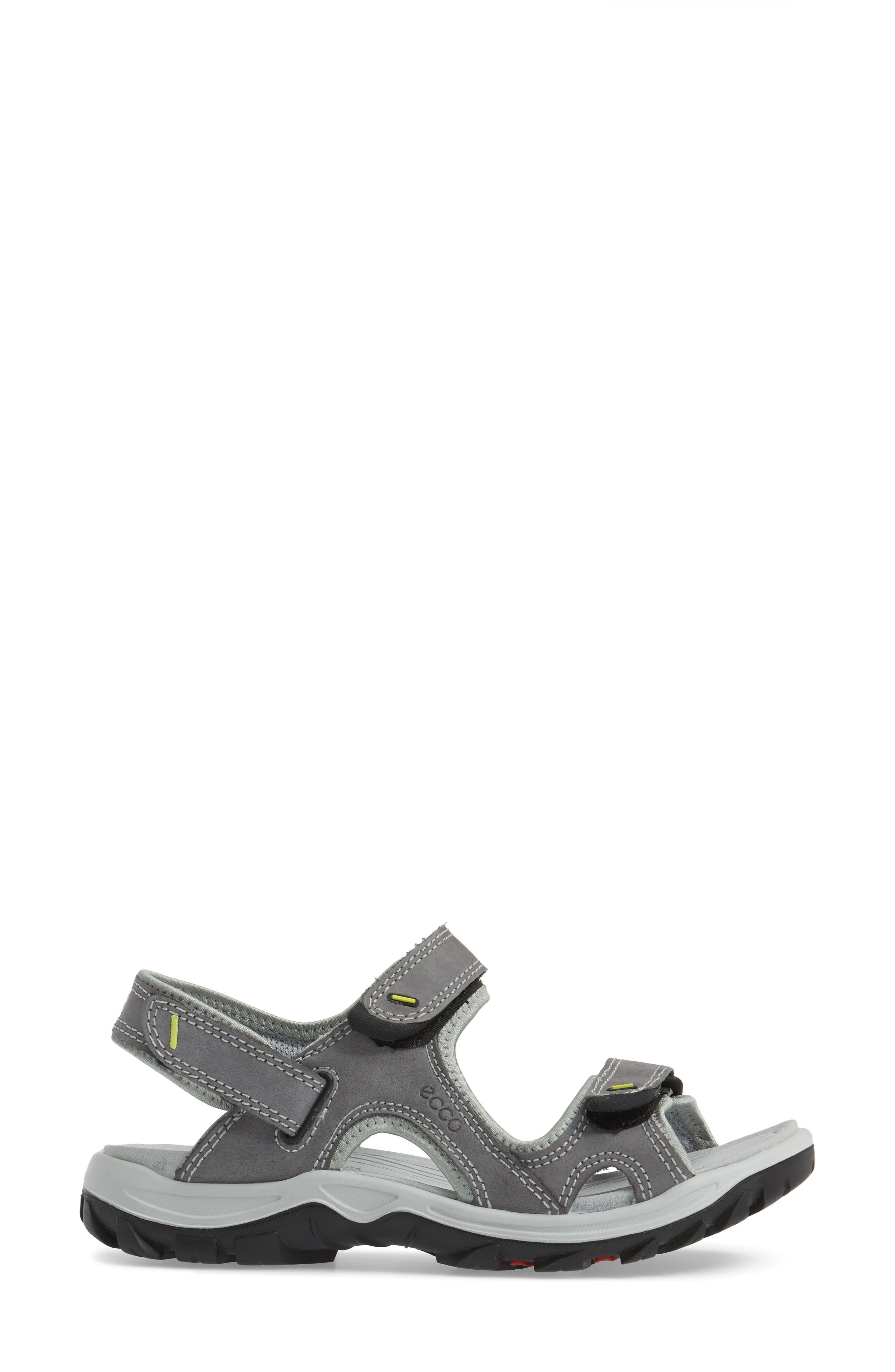 'Offroad' Lightweight Sandal,                             Alternate thumbnail 3, color,                             Titanium Leather