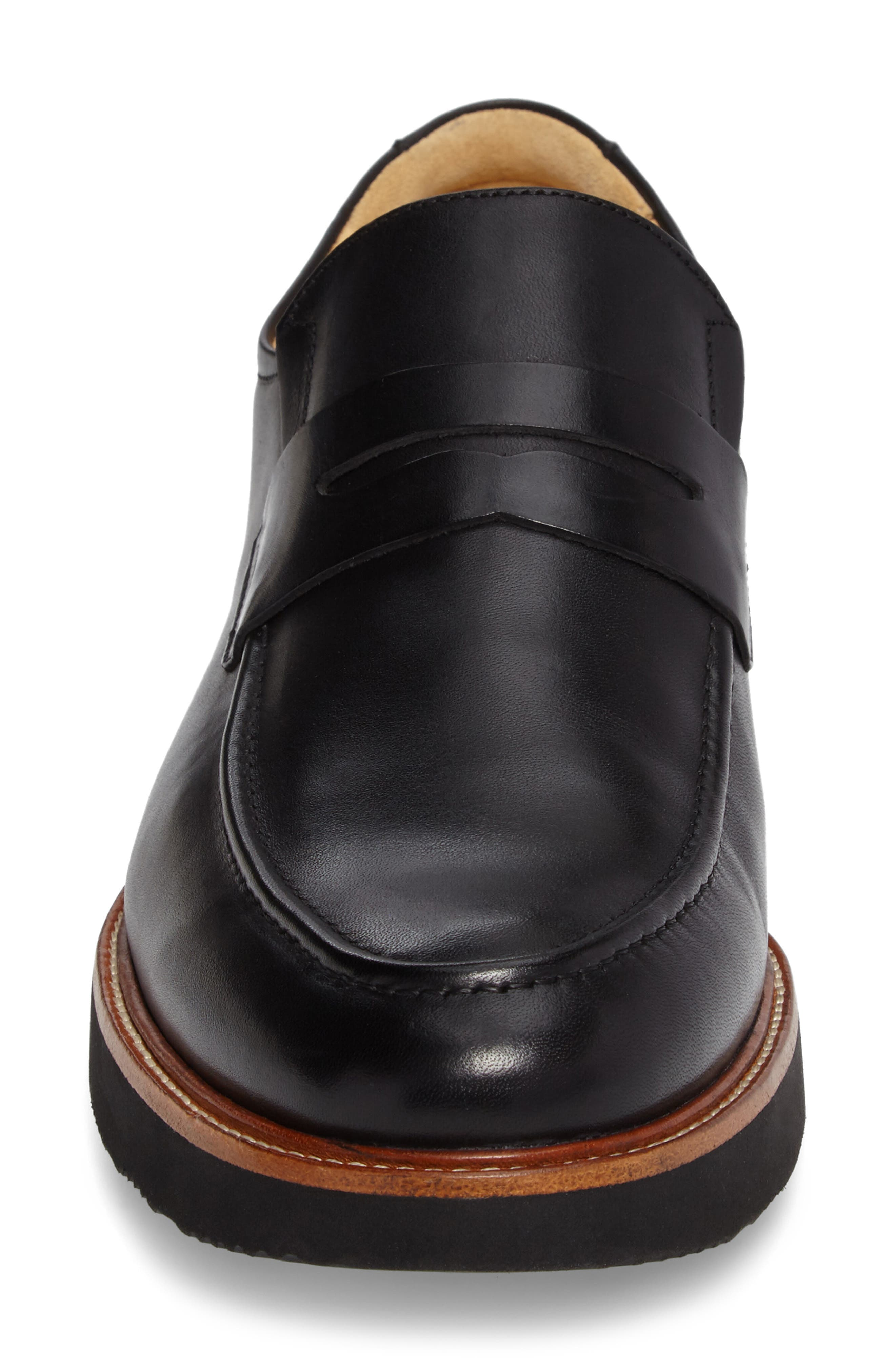 Ivy Legend Penny Loafer,                             Alternate thumbnail 4, color,                             Black Full Grain
