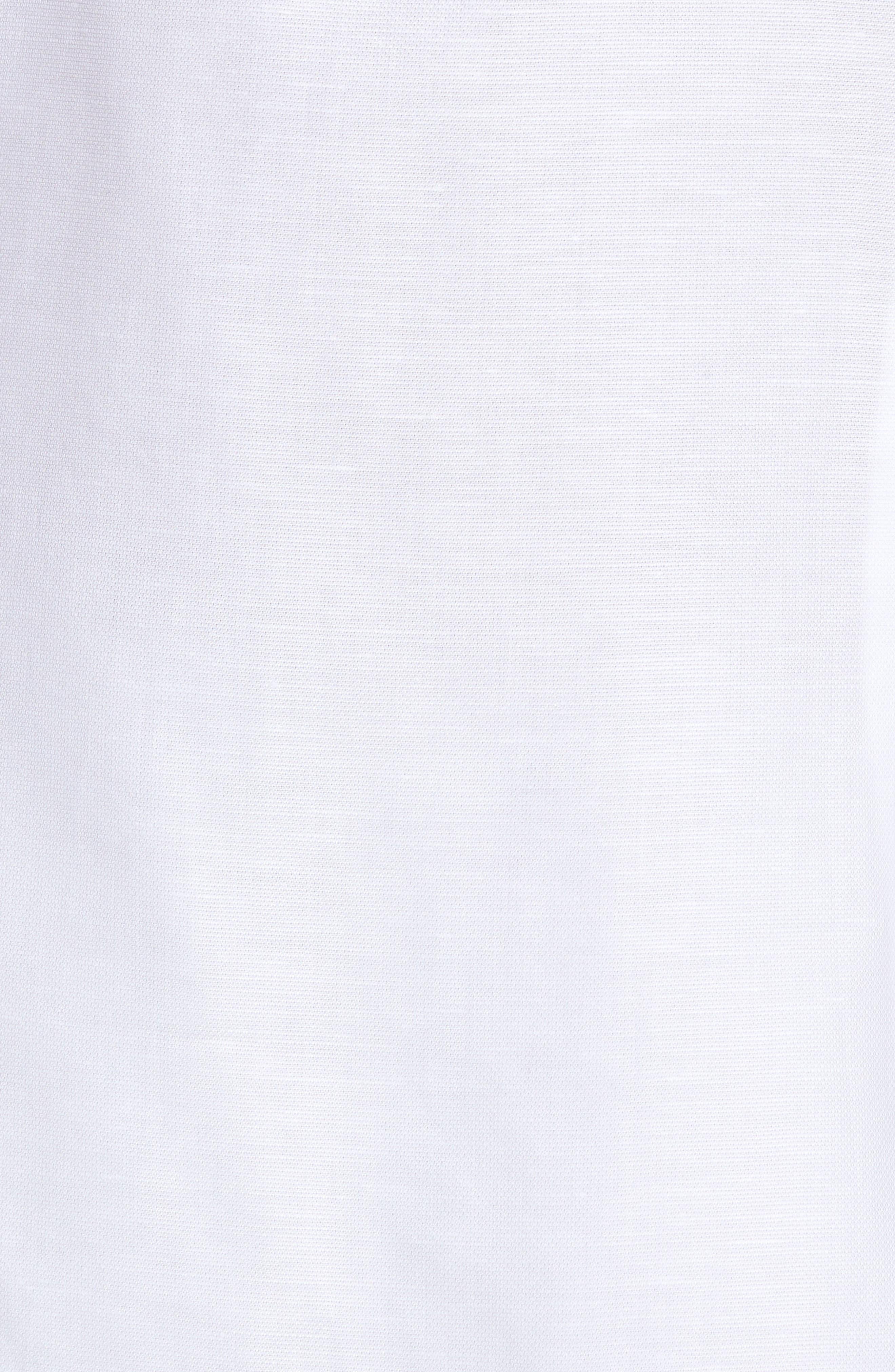 Alternate Image 5  - Ted Baker London Palpin Extra Slim Fit Cotton & Linen Sport Short