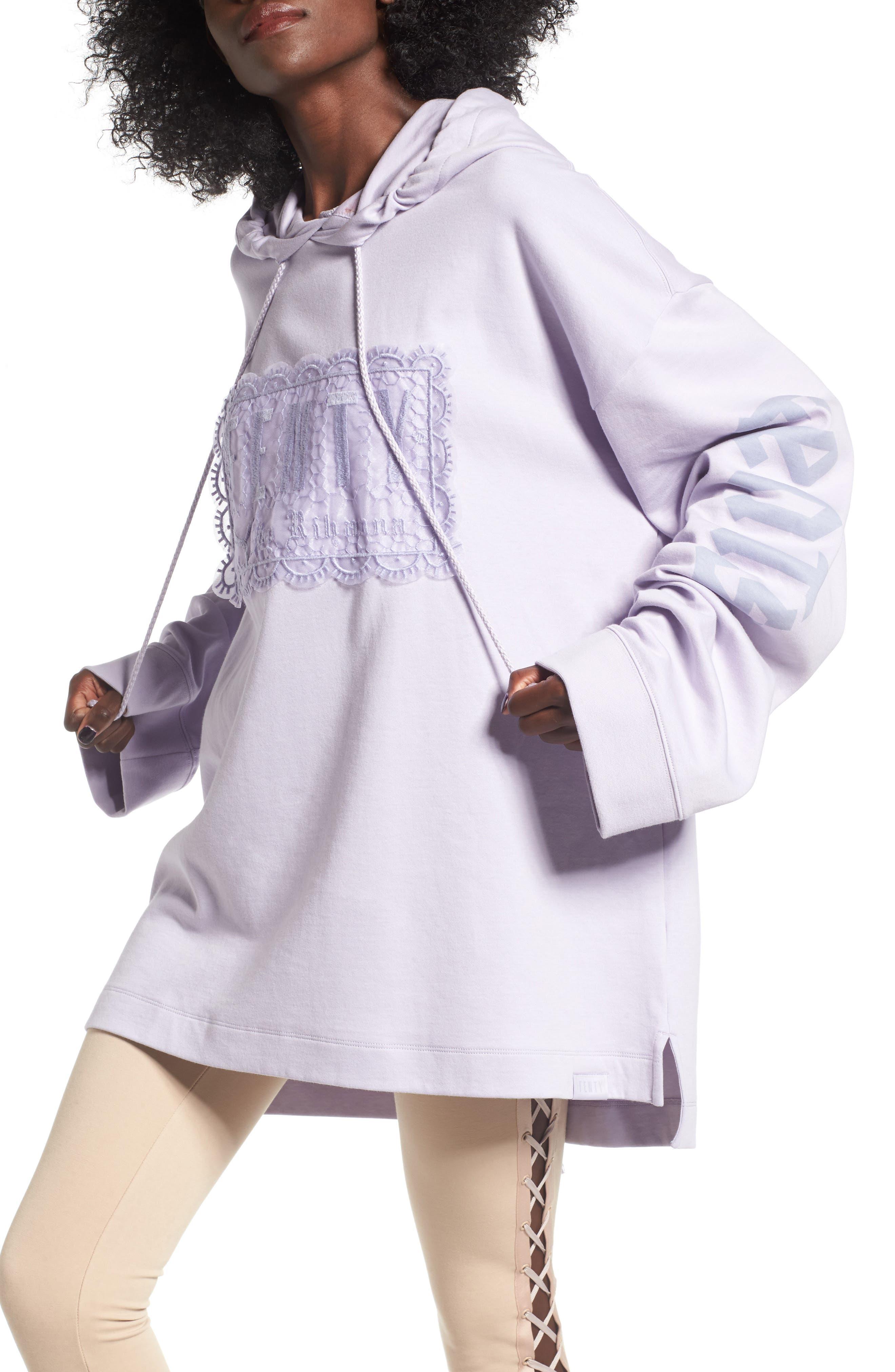 FENTY PUMA by Rihanna Lace Hoodie,                         Main,                         color, Thistle