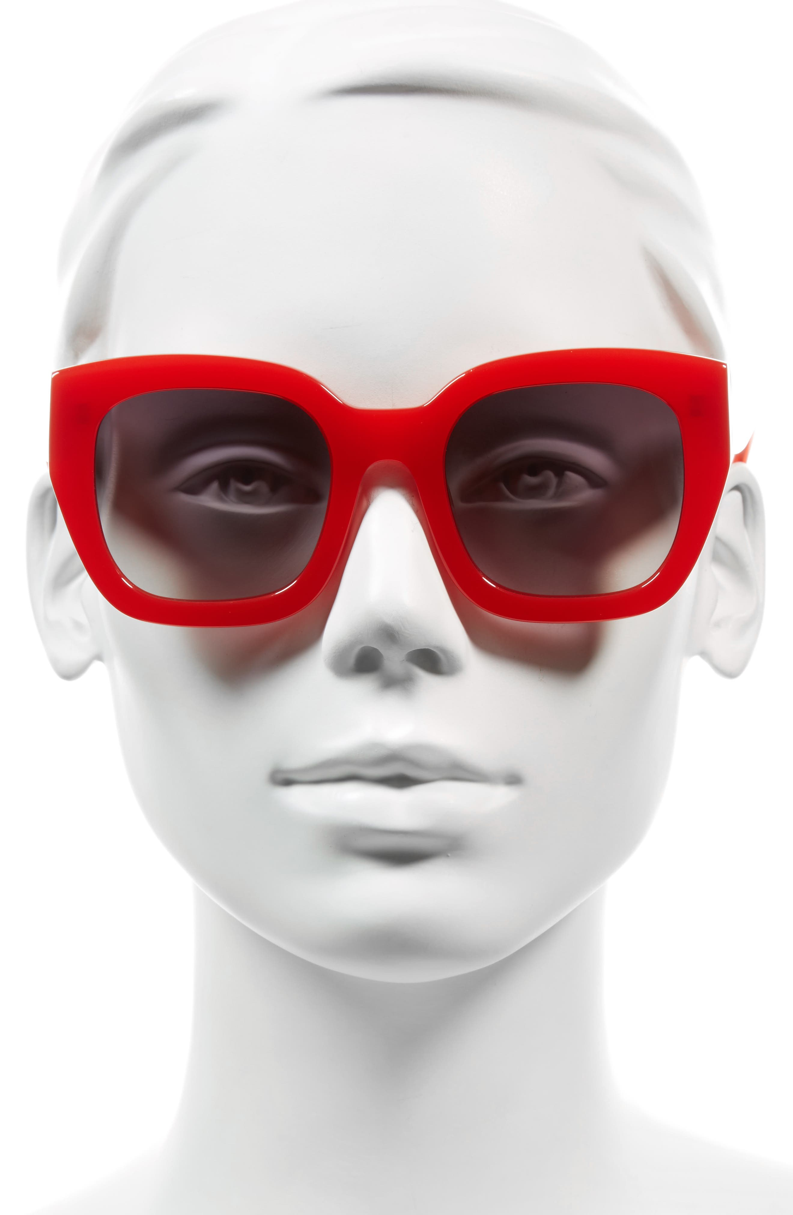 Aberdeen 50mm Square Sunglasses,                             Alternate thumbnail 2, color,                             Poppy