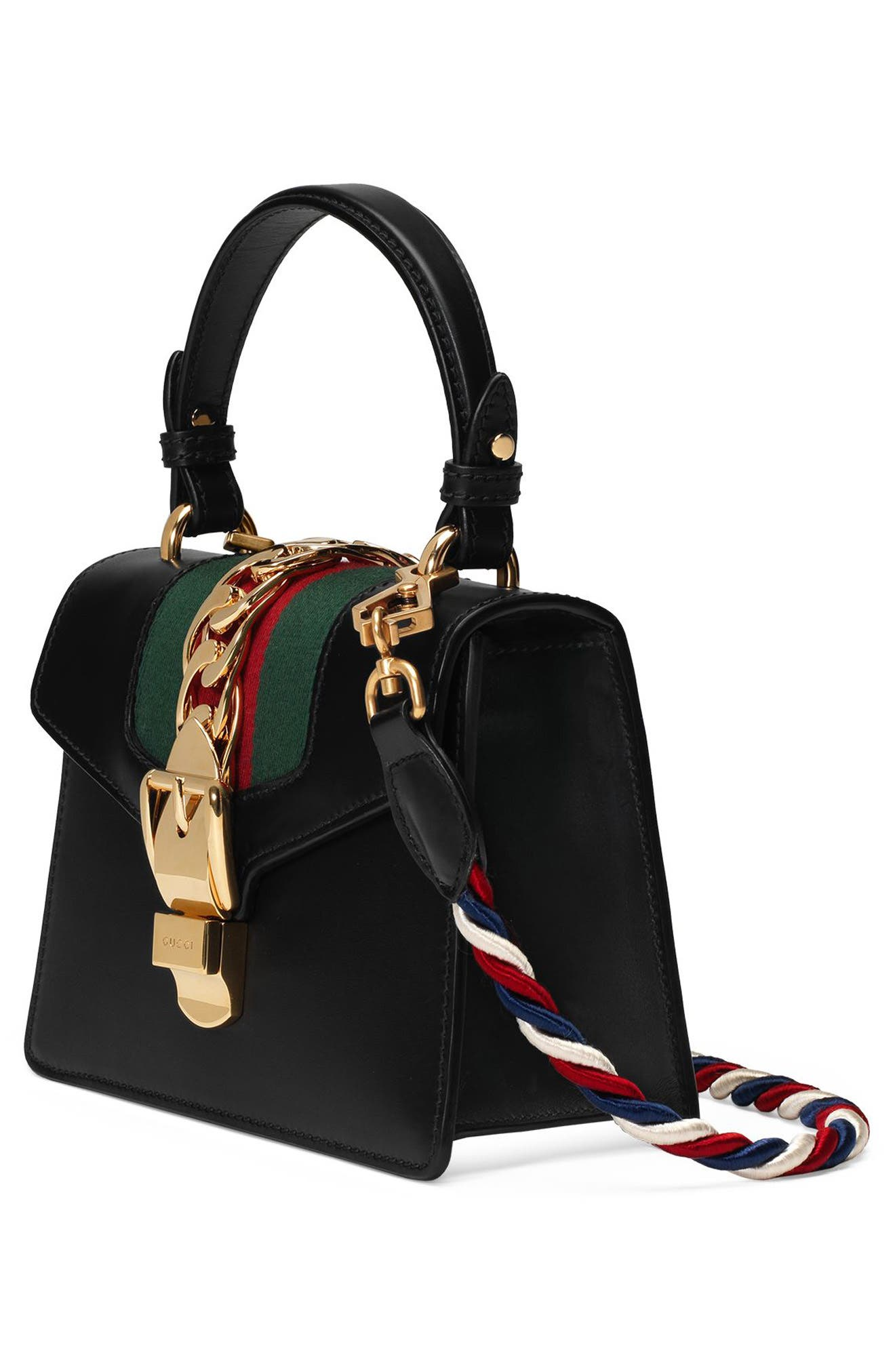 Alternate Image 6  - Gucci Mini Sylvie Top Handle Leather Shoulder Bag