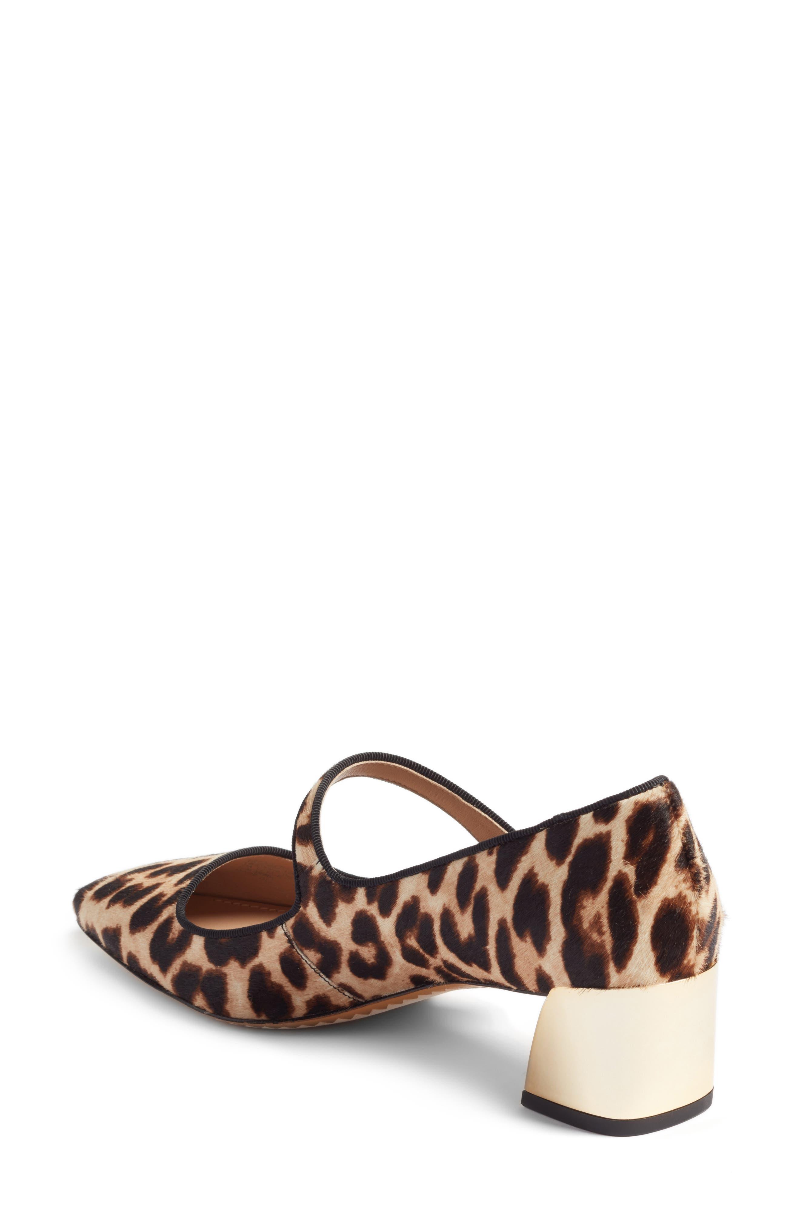 Marisa Genuine Calf Hair Mary Jane Pump,                             Alternate thumbnail 2, color,                             Natural Leopard/ Black