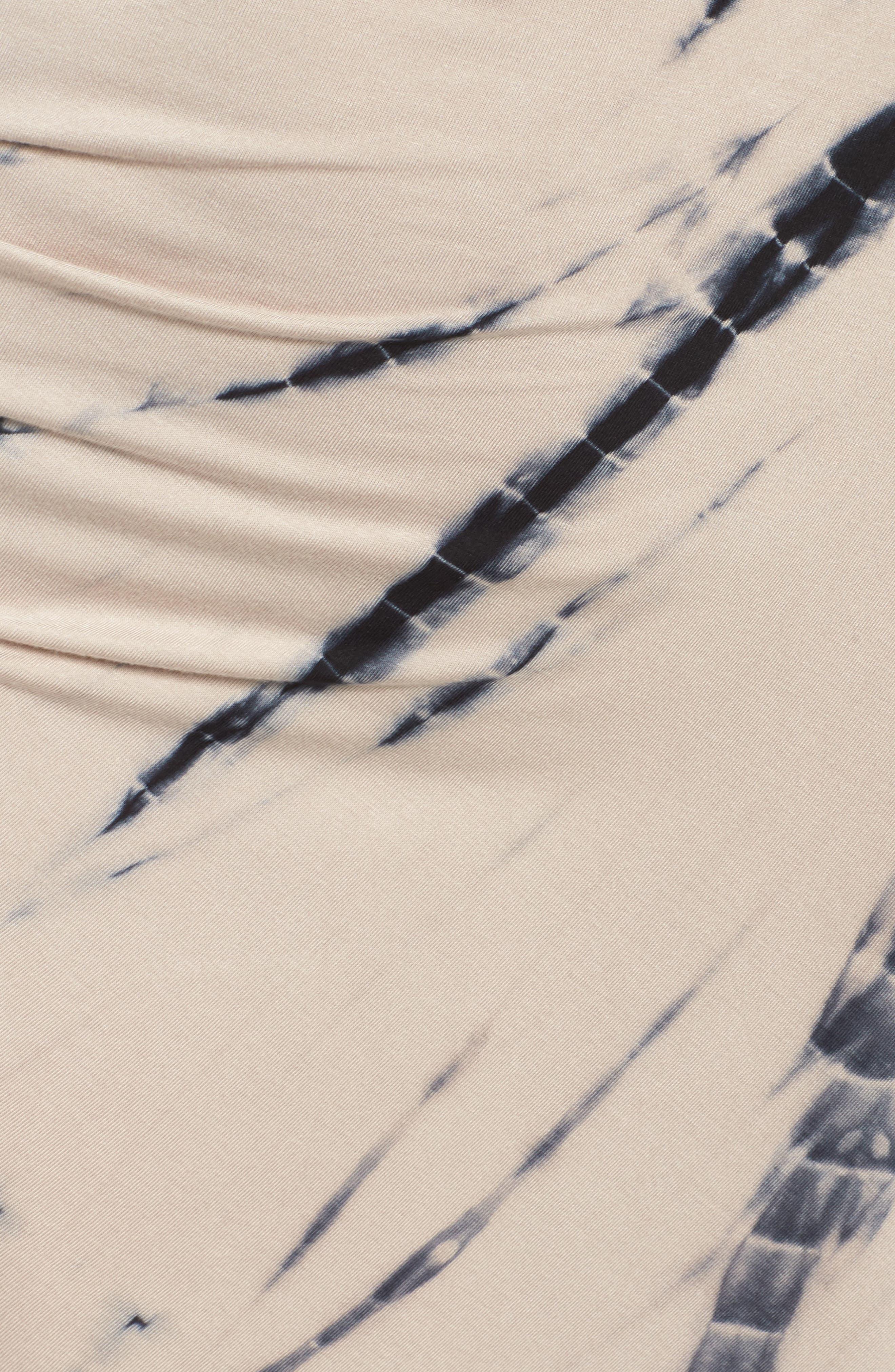 Tie Dye Tank Maxi Dress,                             Alternate thumbnail 5, color,                             Black