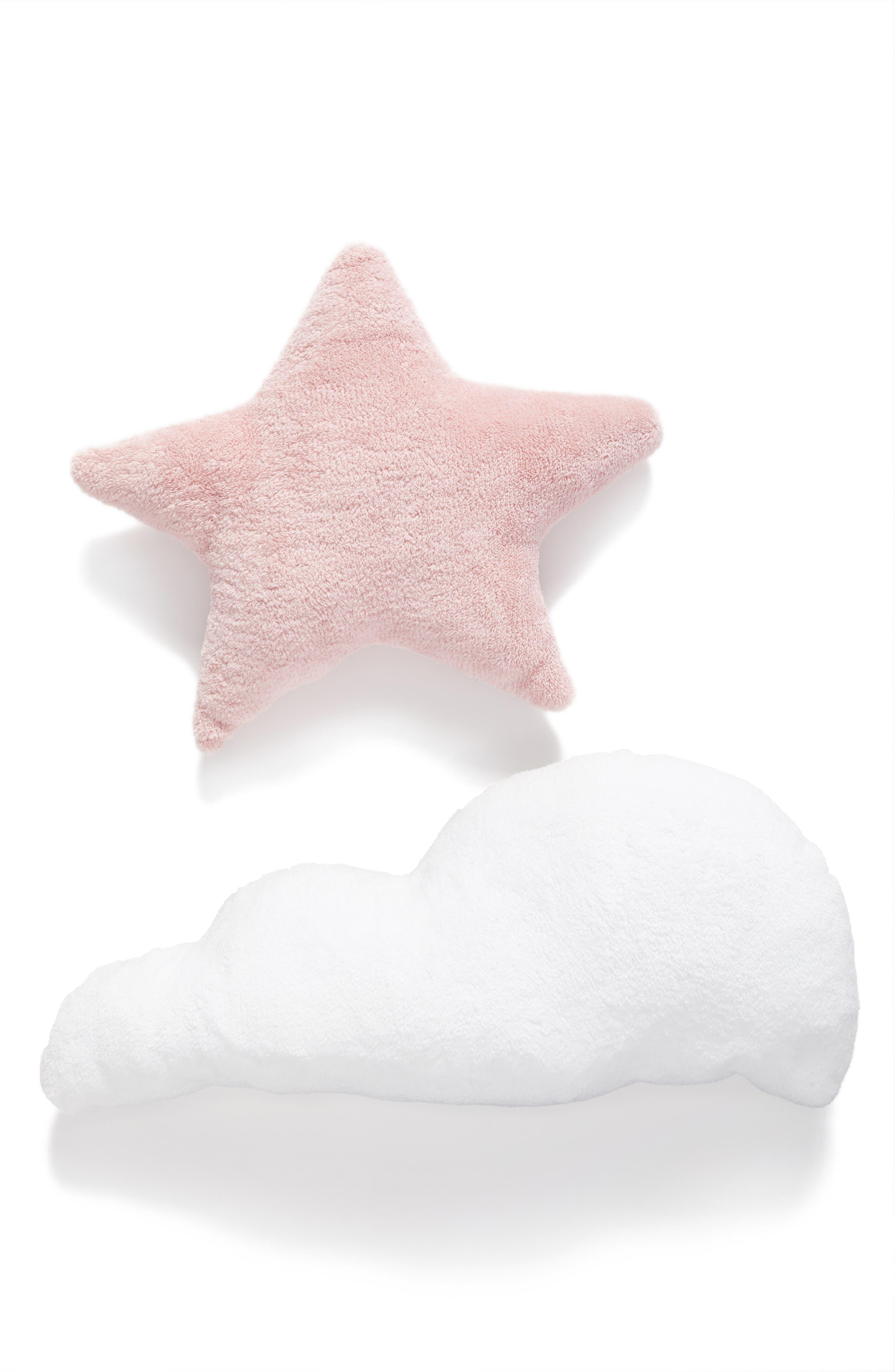 Cloud & Star Pillows,                         Main,                         color, Blush