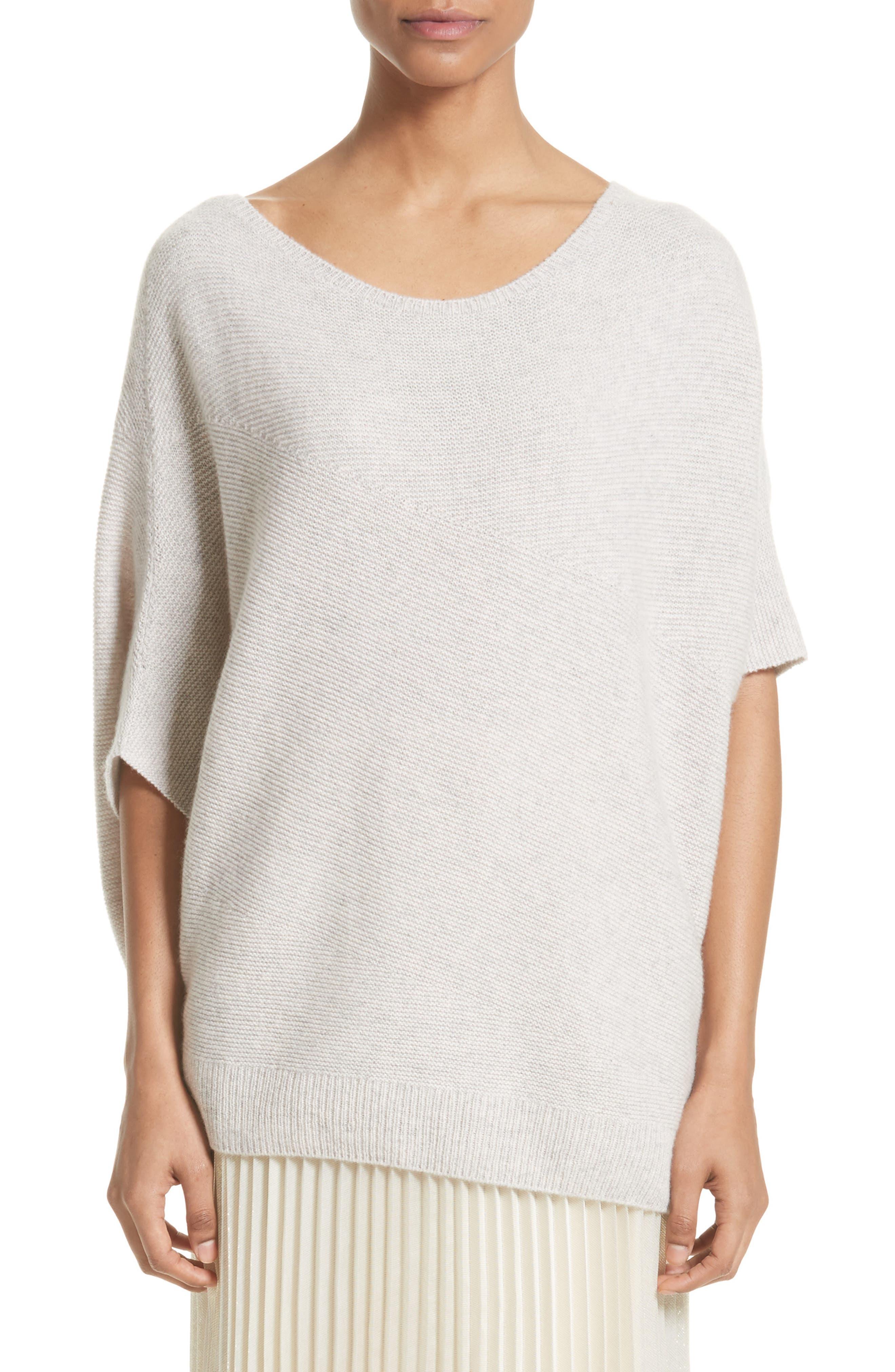 Cashmere Asymmetrical Sweater,                         Main,                         color, Petal Melange