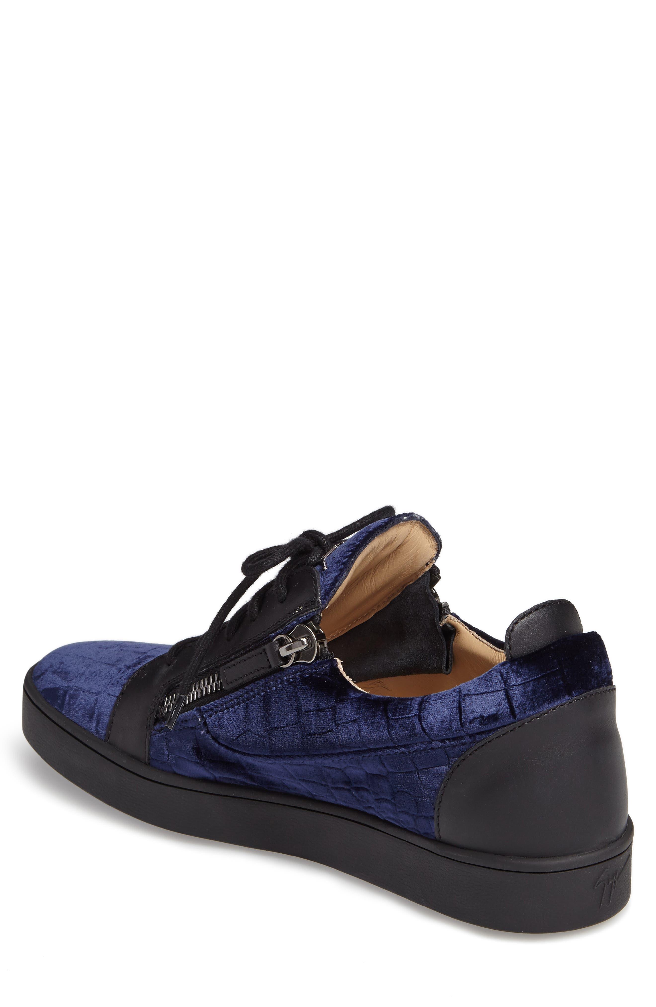 Low Top Sneaker,                             Alternate thumbnail 2, color,                             Navy