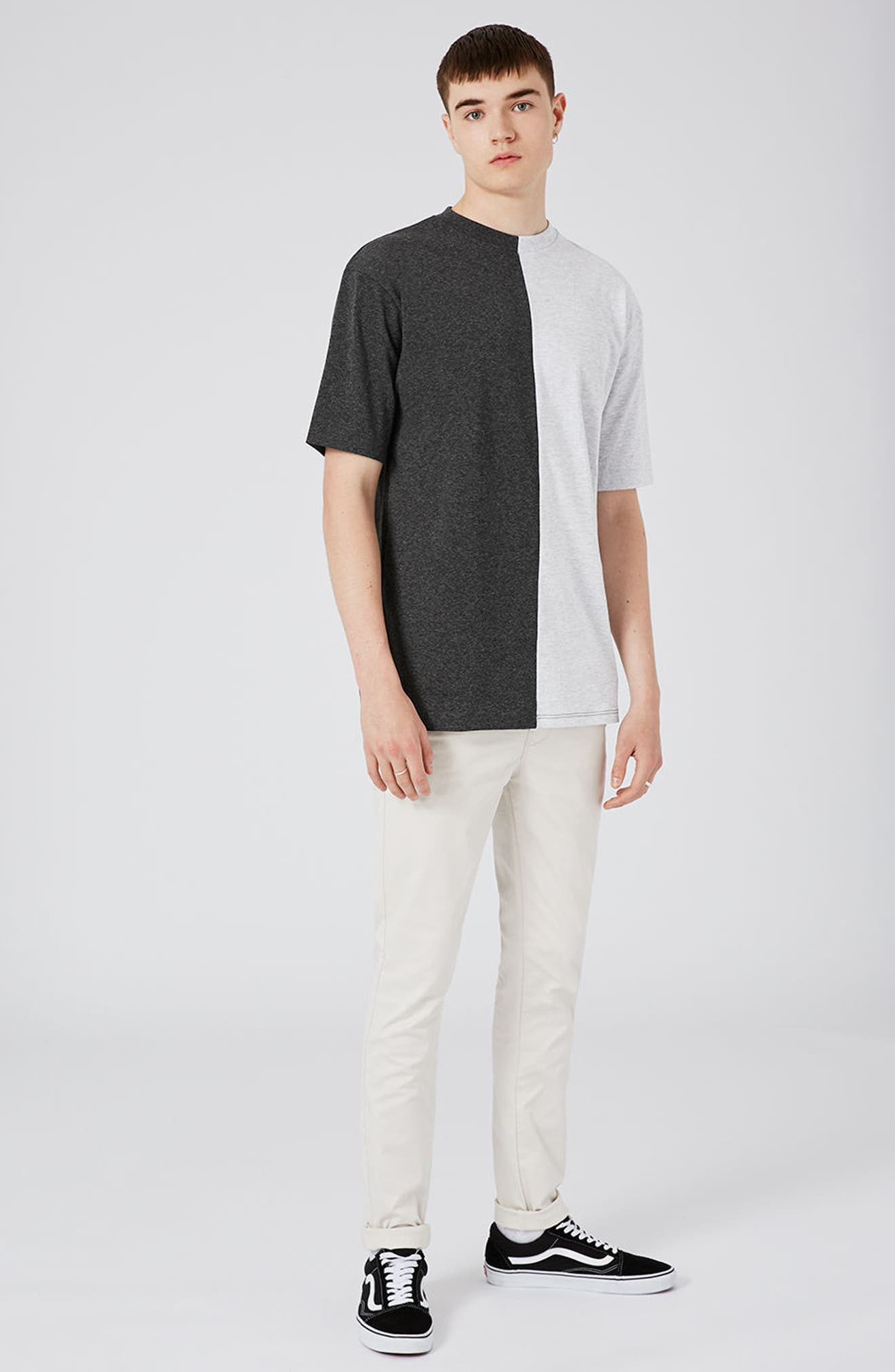 Alternate Image 2  - Topman Splice T-Shirt