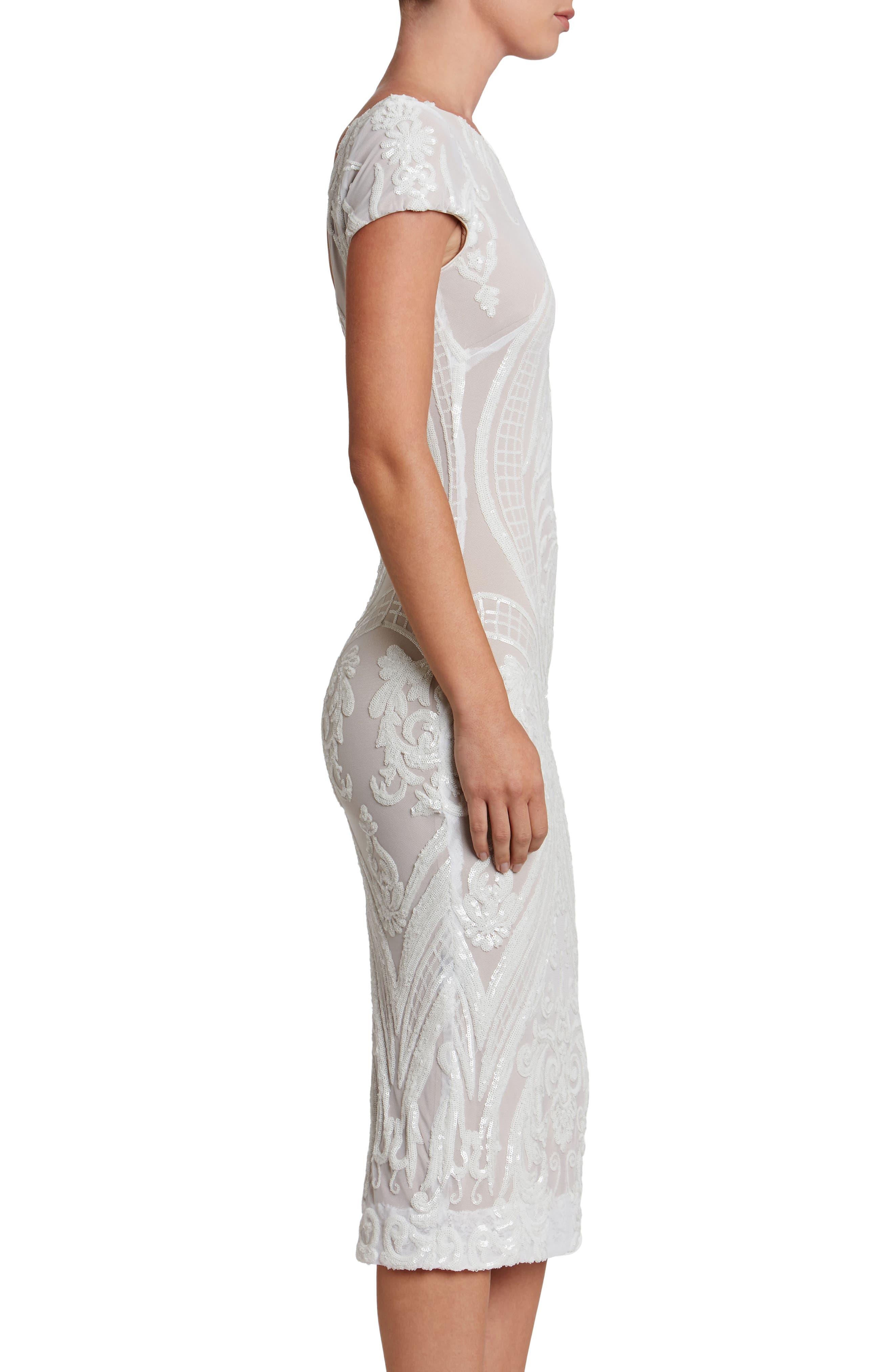 Alternate Image 4  - Dress the Population Brandi Sequin Body-Con Dress