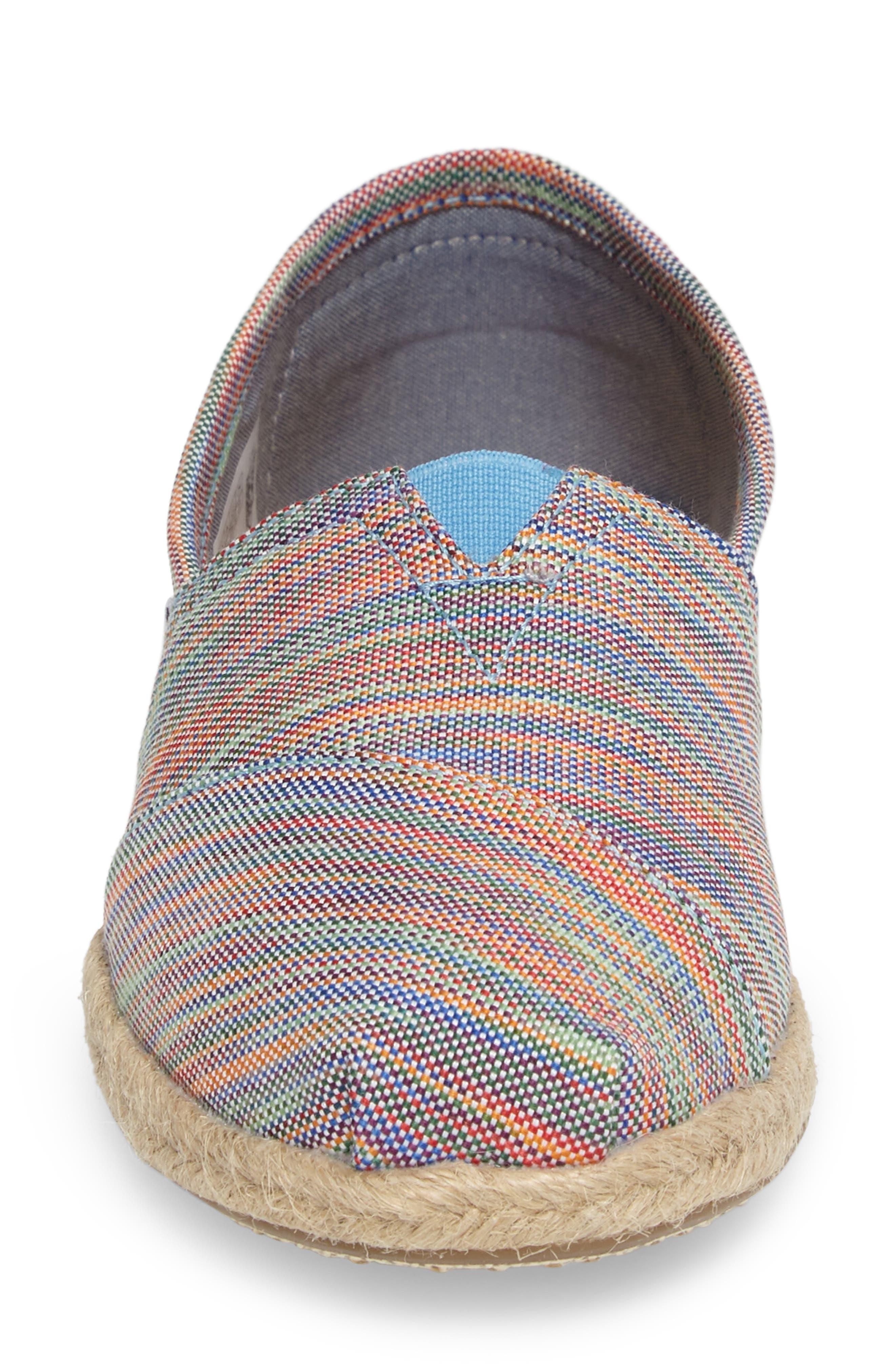 Alpargata Slip-On,                             Alternate thumbnail 4, color,                             Blue Stripe