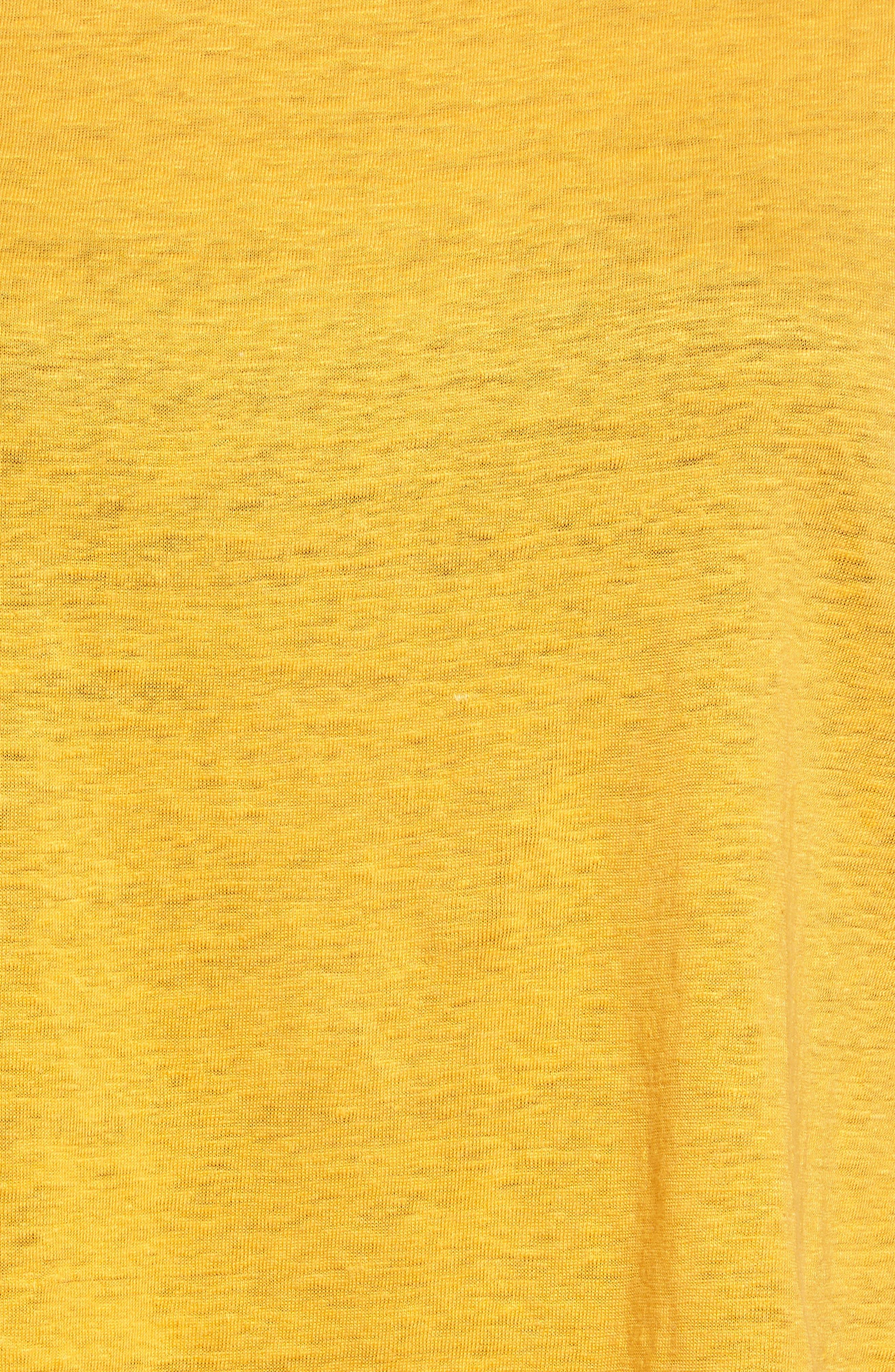 Organic Linen Top,                             Alternate thumbnail 5, color,                             Orangeade