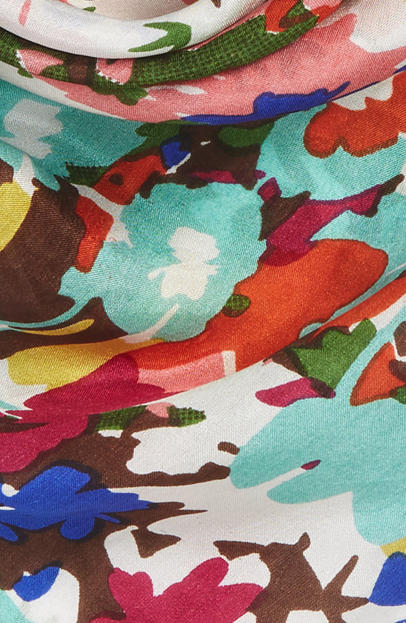 Alternate Image 3  - Sole Society Floral Print Silk Bandana