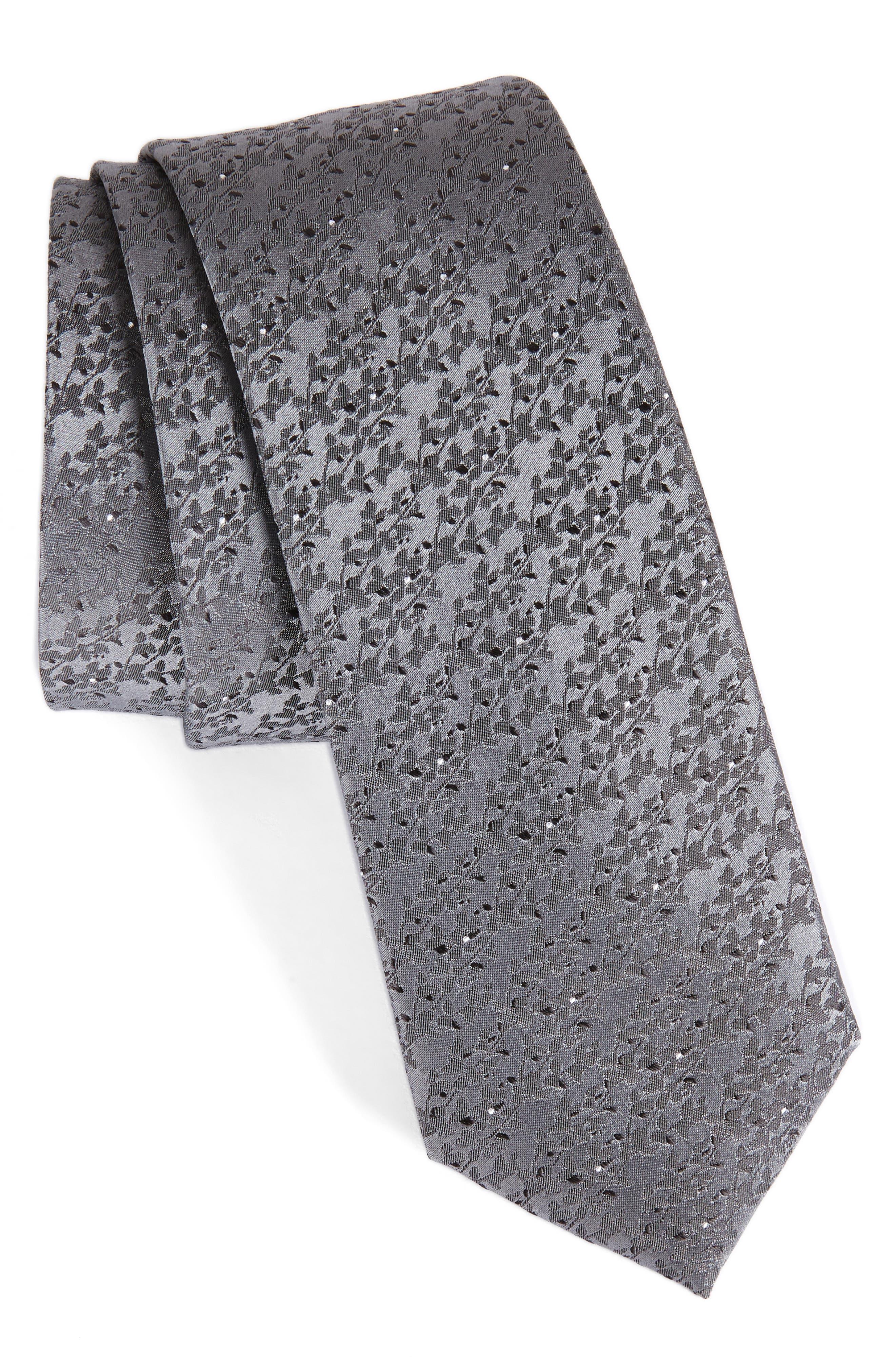 Main Image - Calibrate Mini Wild Flower Silk Tie