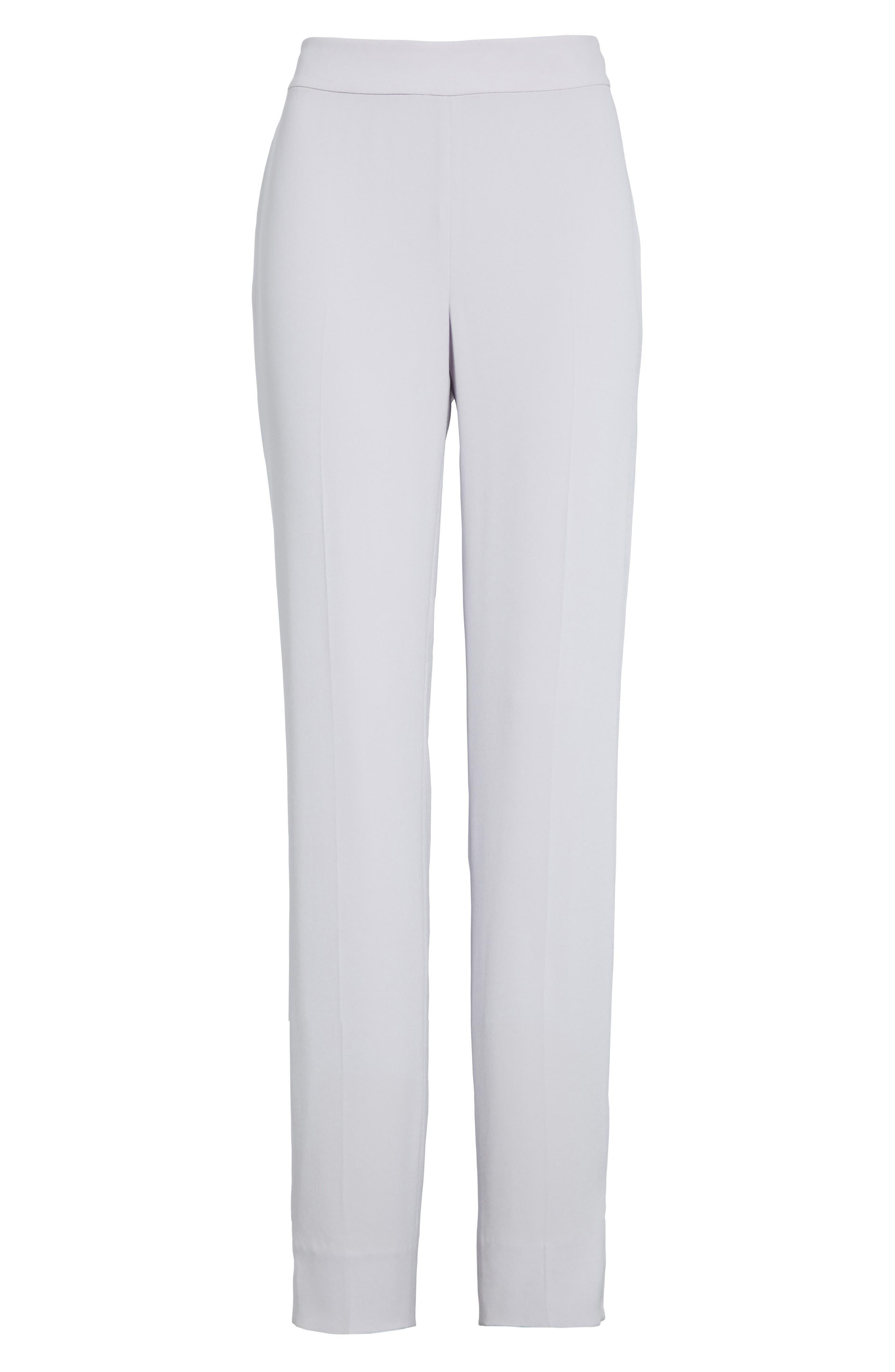 Alternate Image 6  - St. John Collection Emma Satin Back Crepe Pants