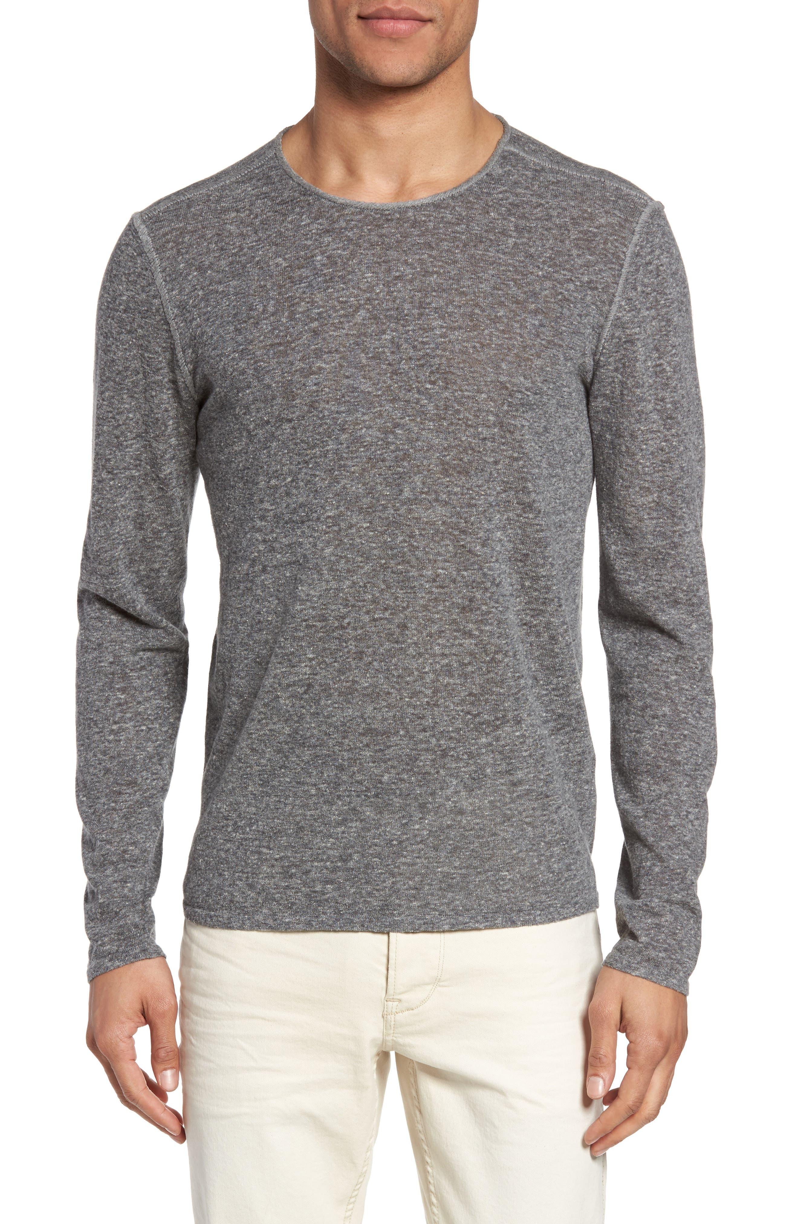 Crewneck Sweater,                             Main thumbnail 1, color,                             Medium Grey