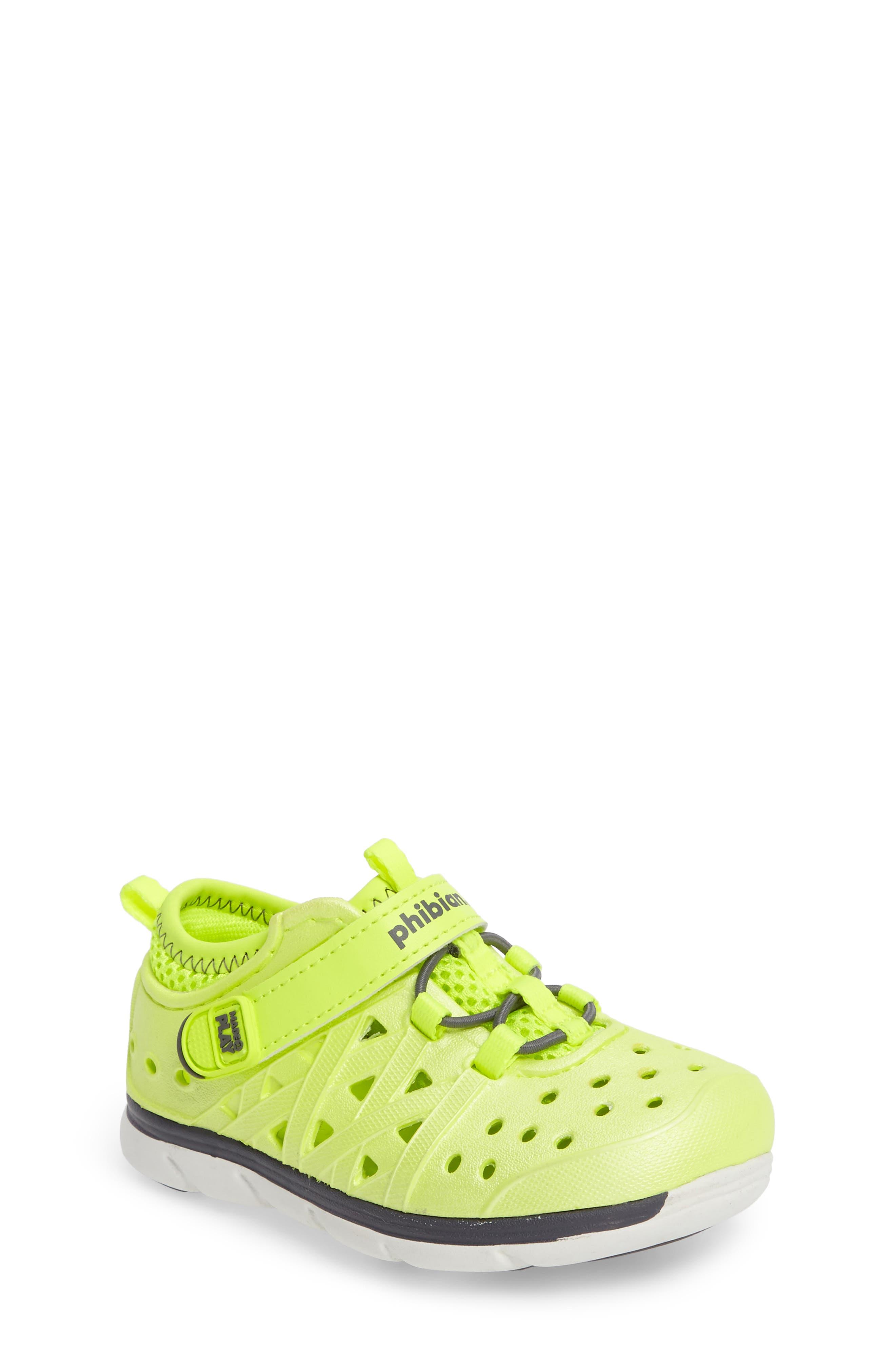 Made2Play<sup>®</sup> Phibian Sneaker,                         Main,                         color, Citron Metallic