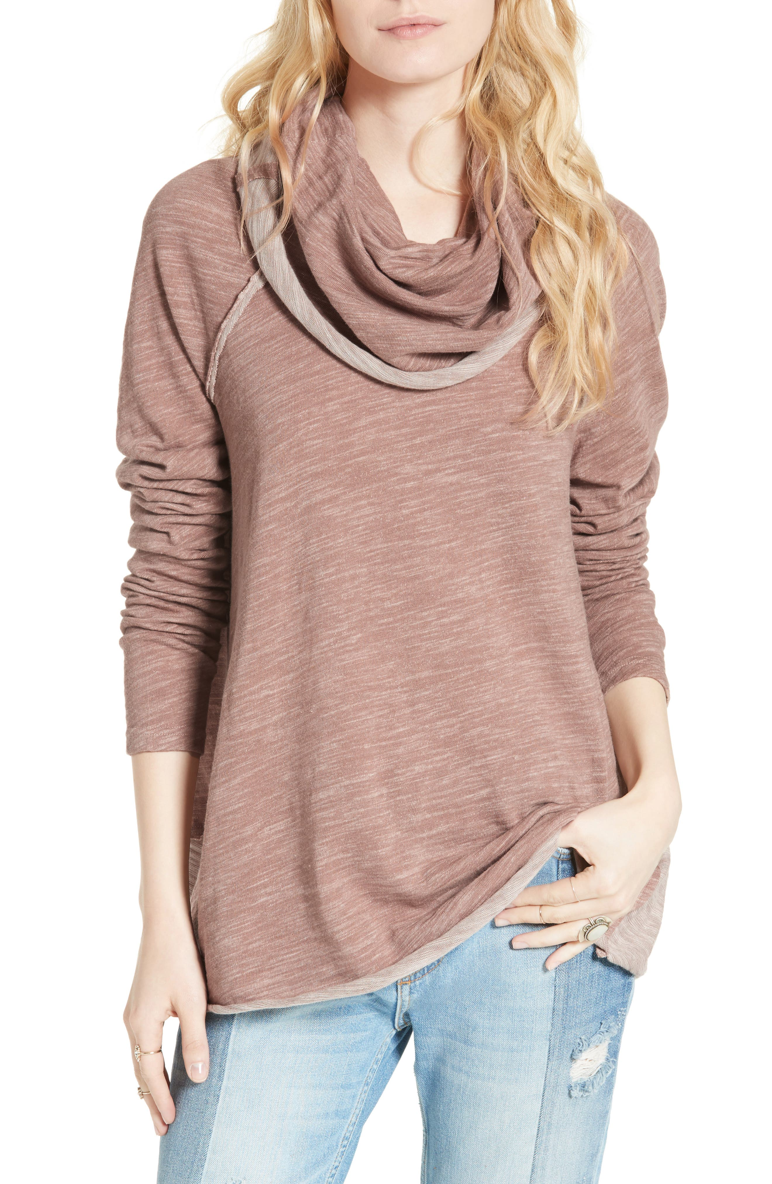 Main Image - Free People 'Beach Cocoon' Cowl Neck Pullover