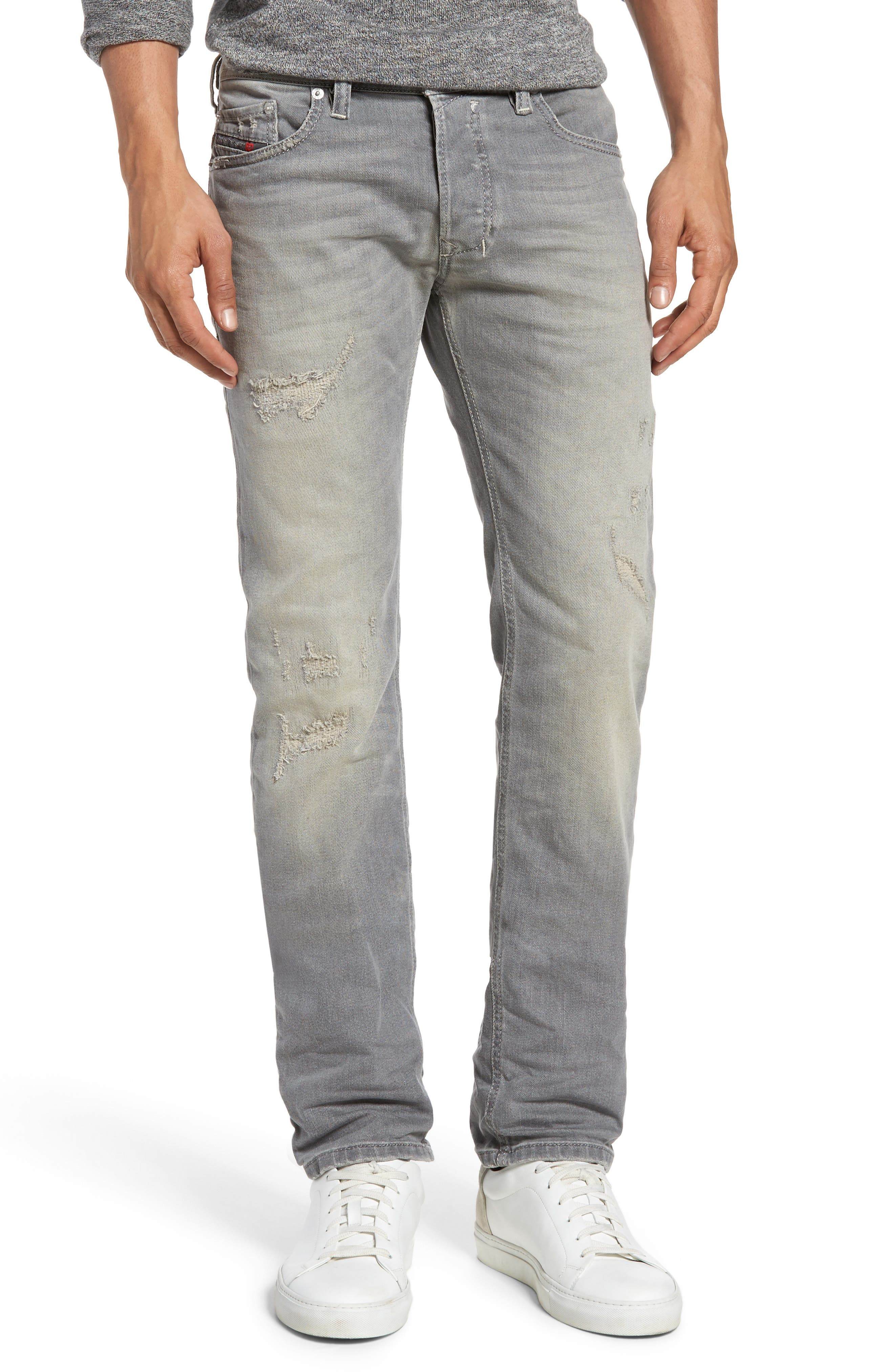DIESEL® Safado Slim Straight Leg Jeans (084DV)