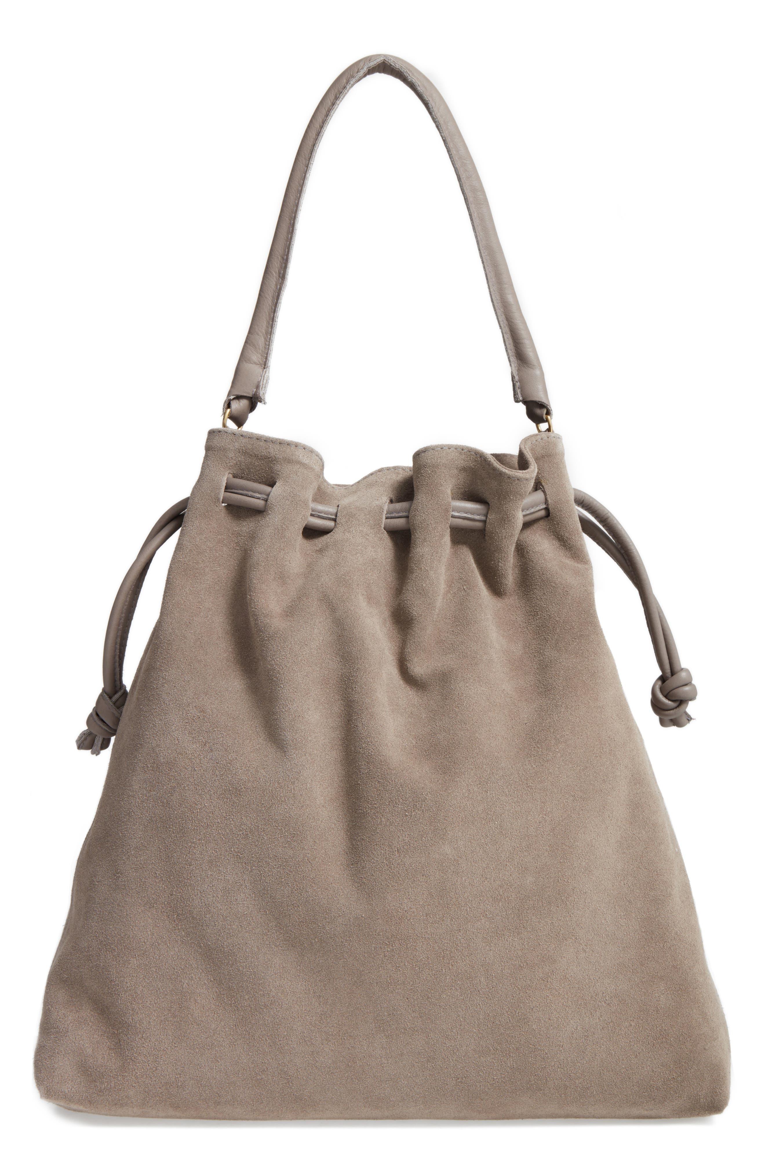 Henri Drawstring Shoulder Bag,                             Alternate thumbnail 2, color,                             Dark Grey