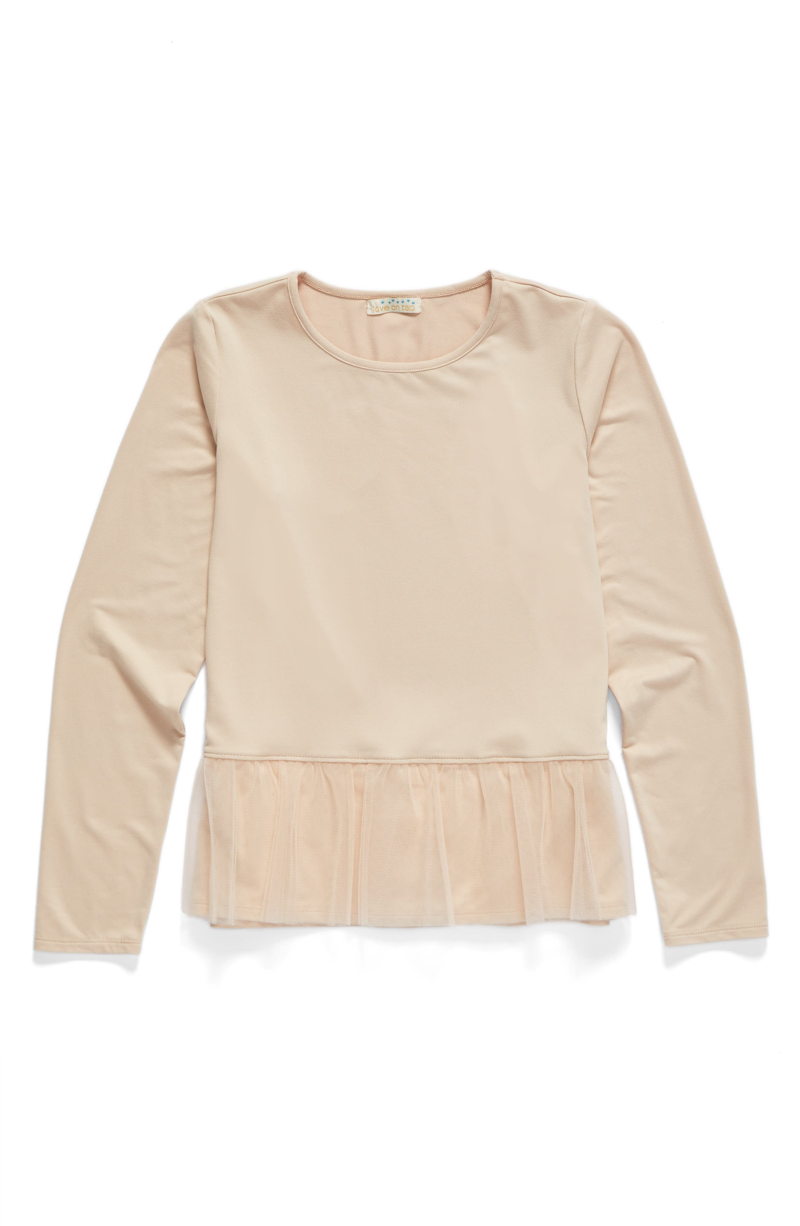 Love on Tap Tulle Knit Sweater (Big Girls)